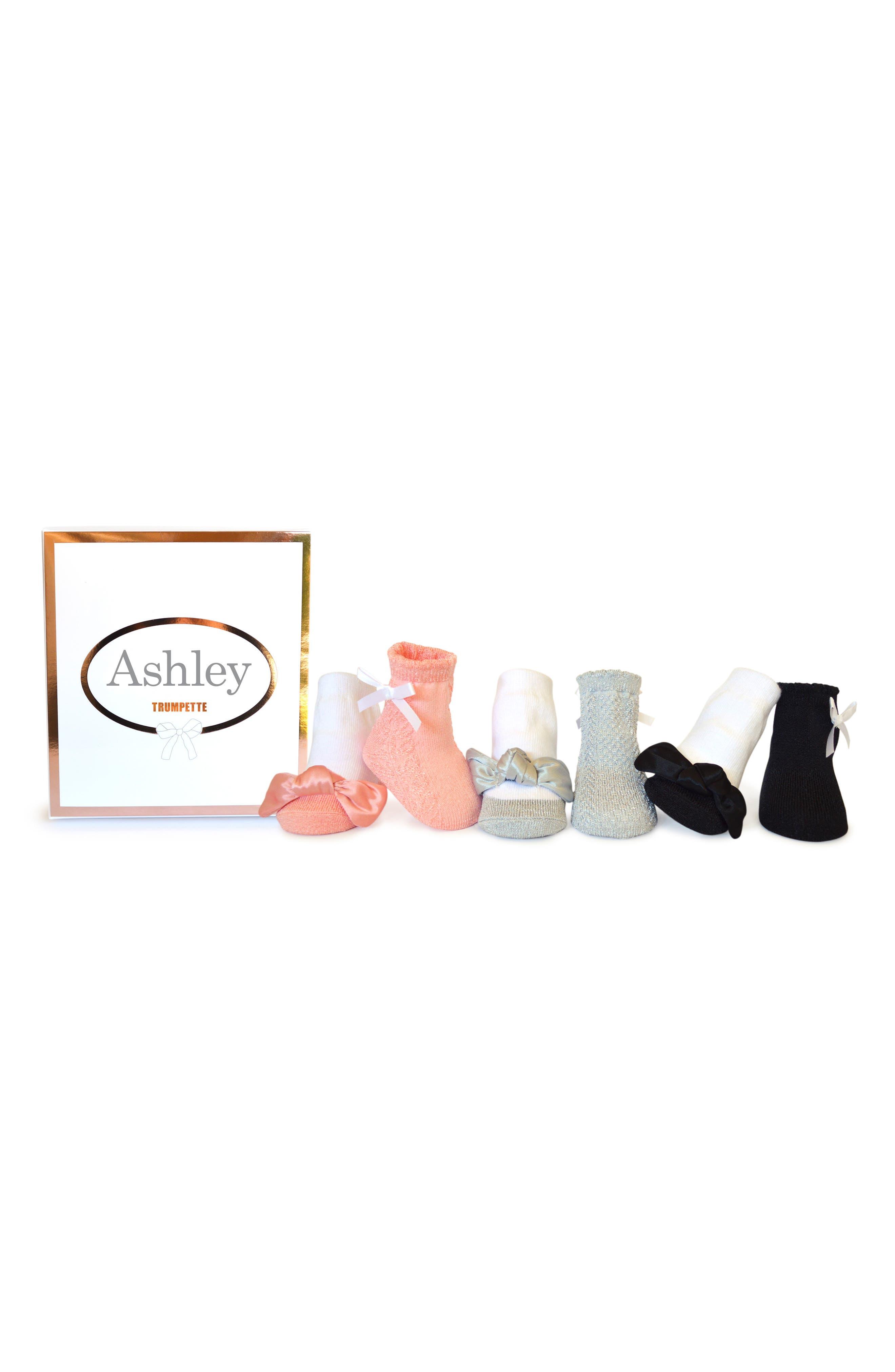 Ashley 6-Pack Socks,                             Main thumbnail 1, color,                             ASSORTED PASTEL