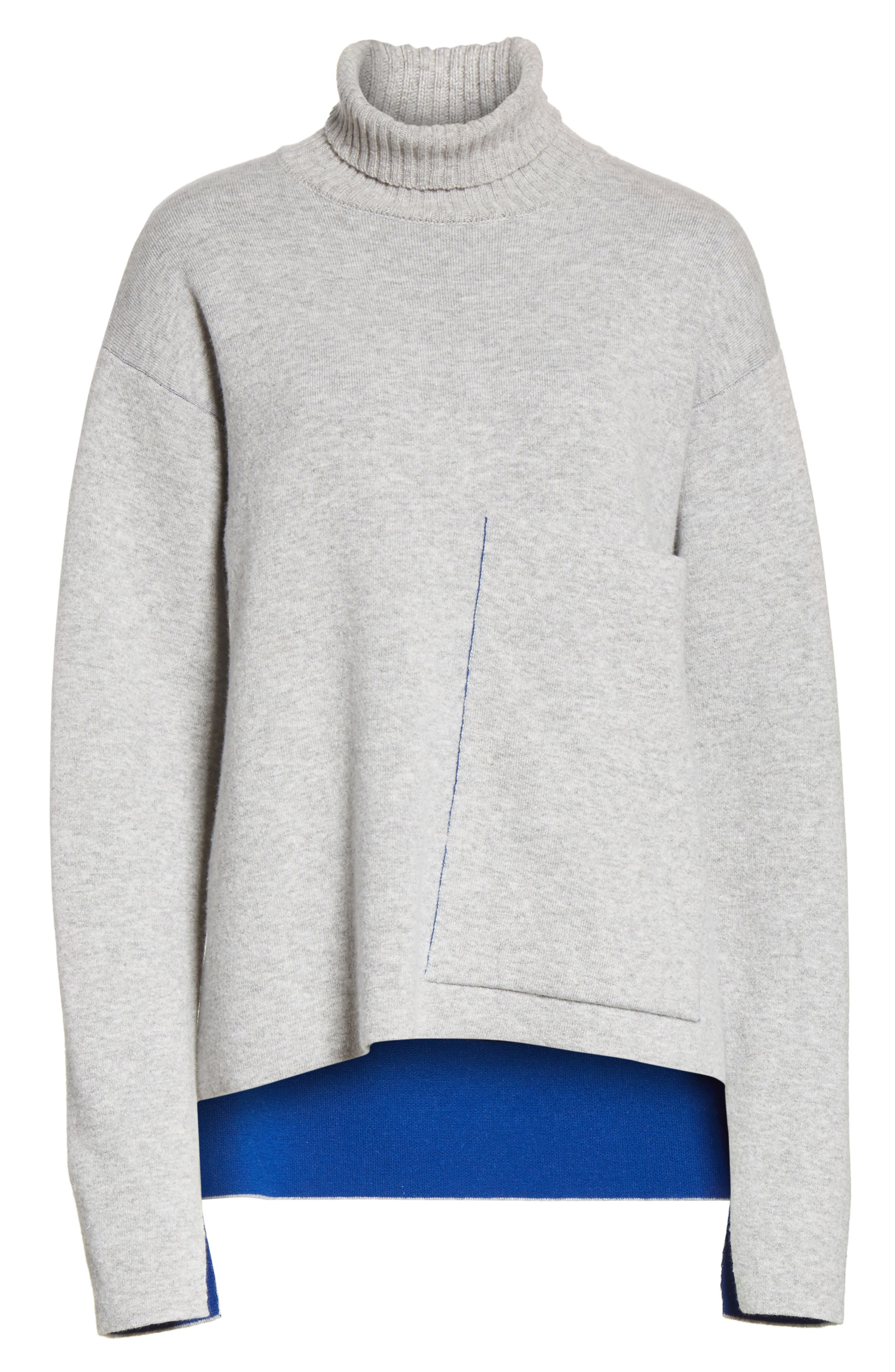 Double-Face Wool Blend Pocket Sweater,                             Alternate thumbnail 6, color,                             477