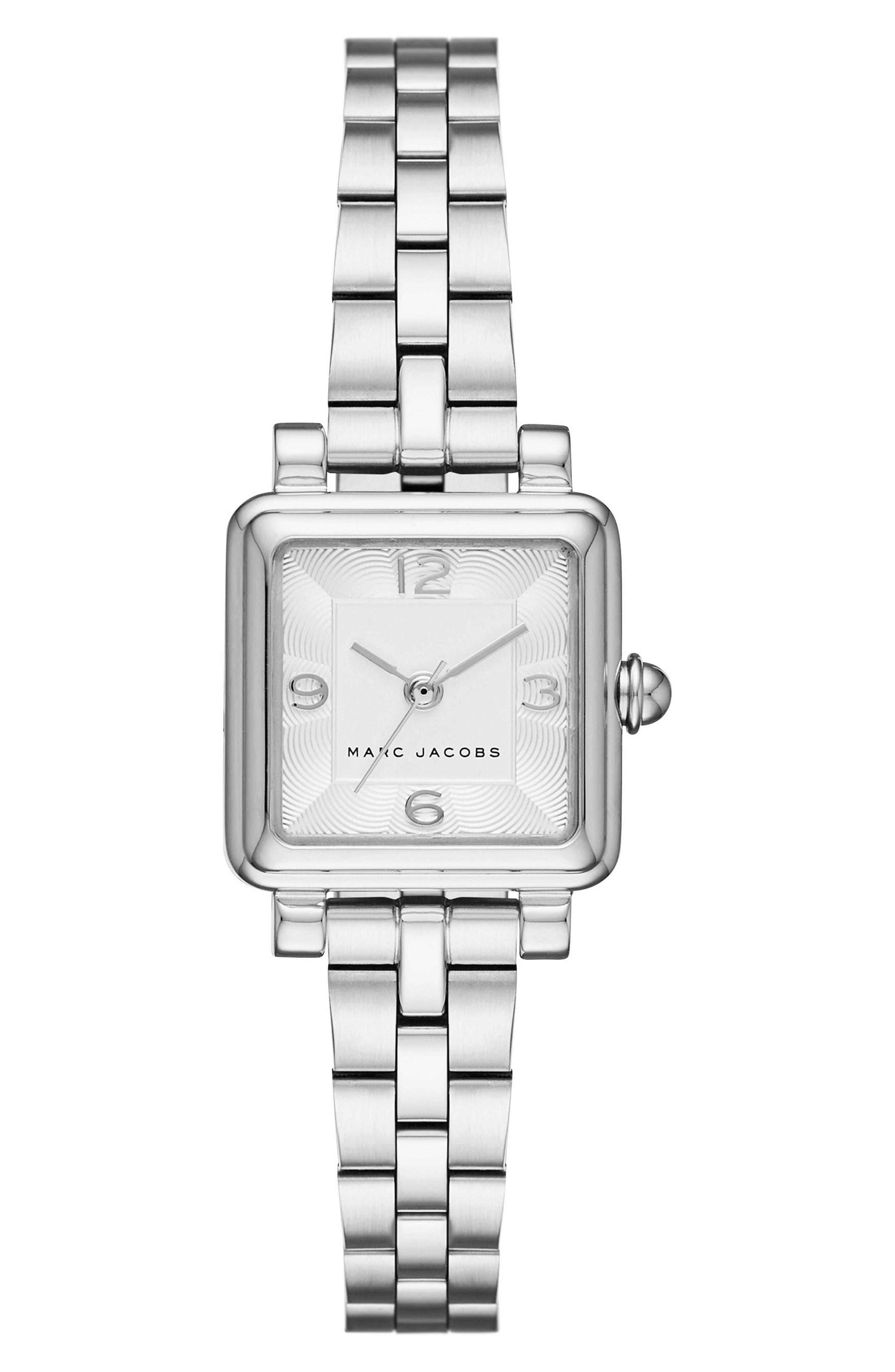 Vic Bracelet Watch, 20mm,                             Main thumbnail 1, color,                             SILVER/ WHITE SATIN