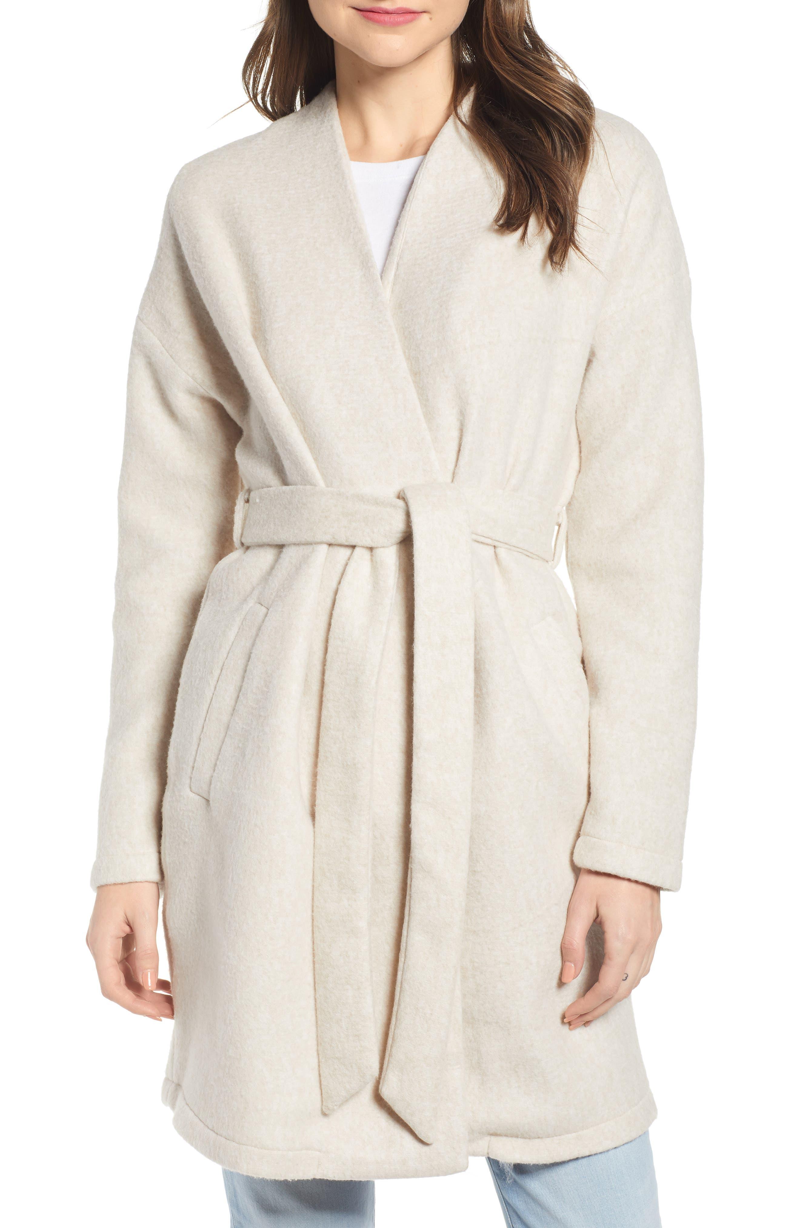 Vero Moda Brushed Fleece Jacket, Beige