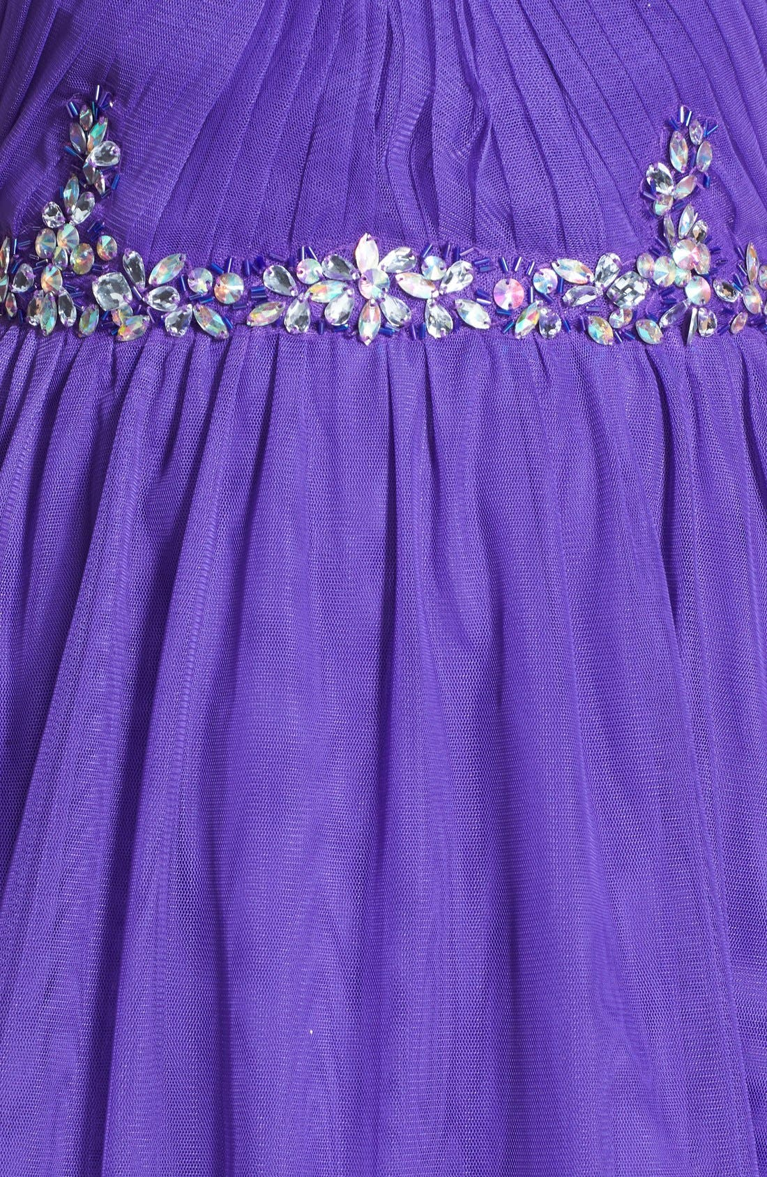 Embellished Party Dress,                             Alternate thumbnail 3, color,                             500