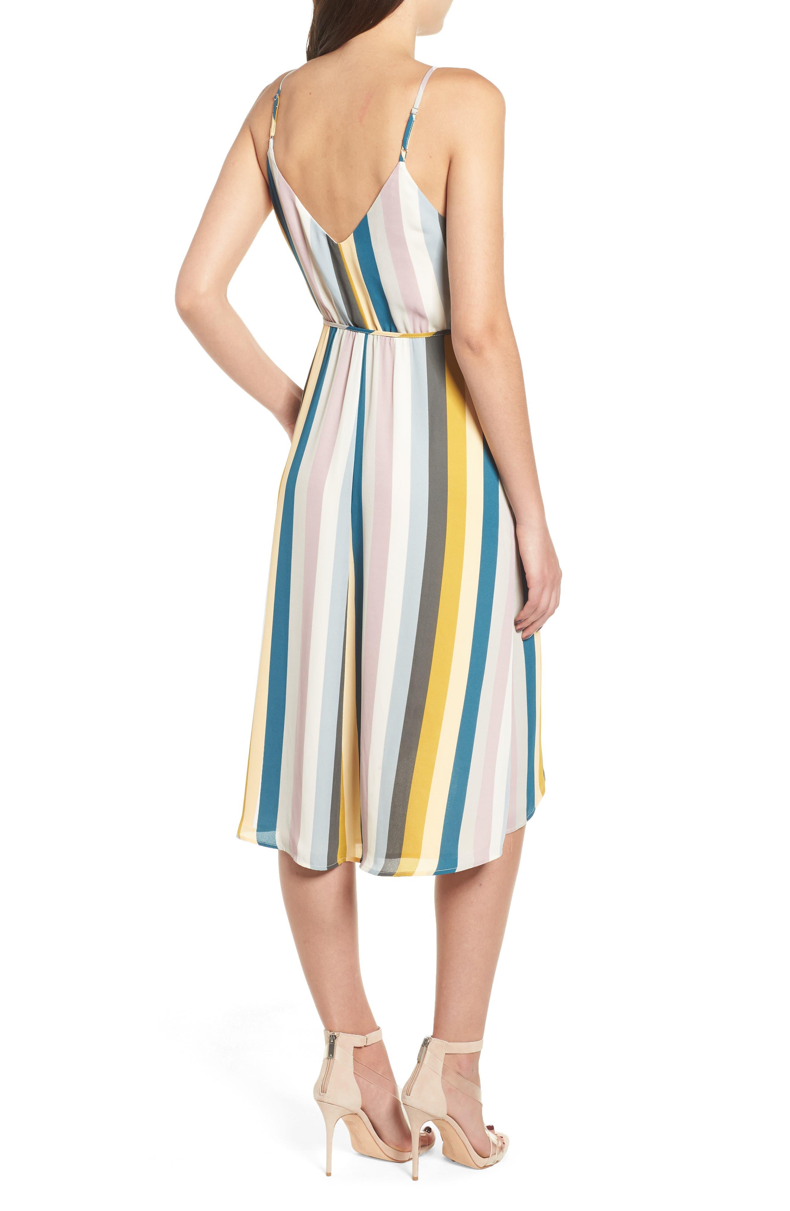 Stripe Wrap Dress,                             Alternate thumbnail 2, color,                             720