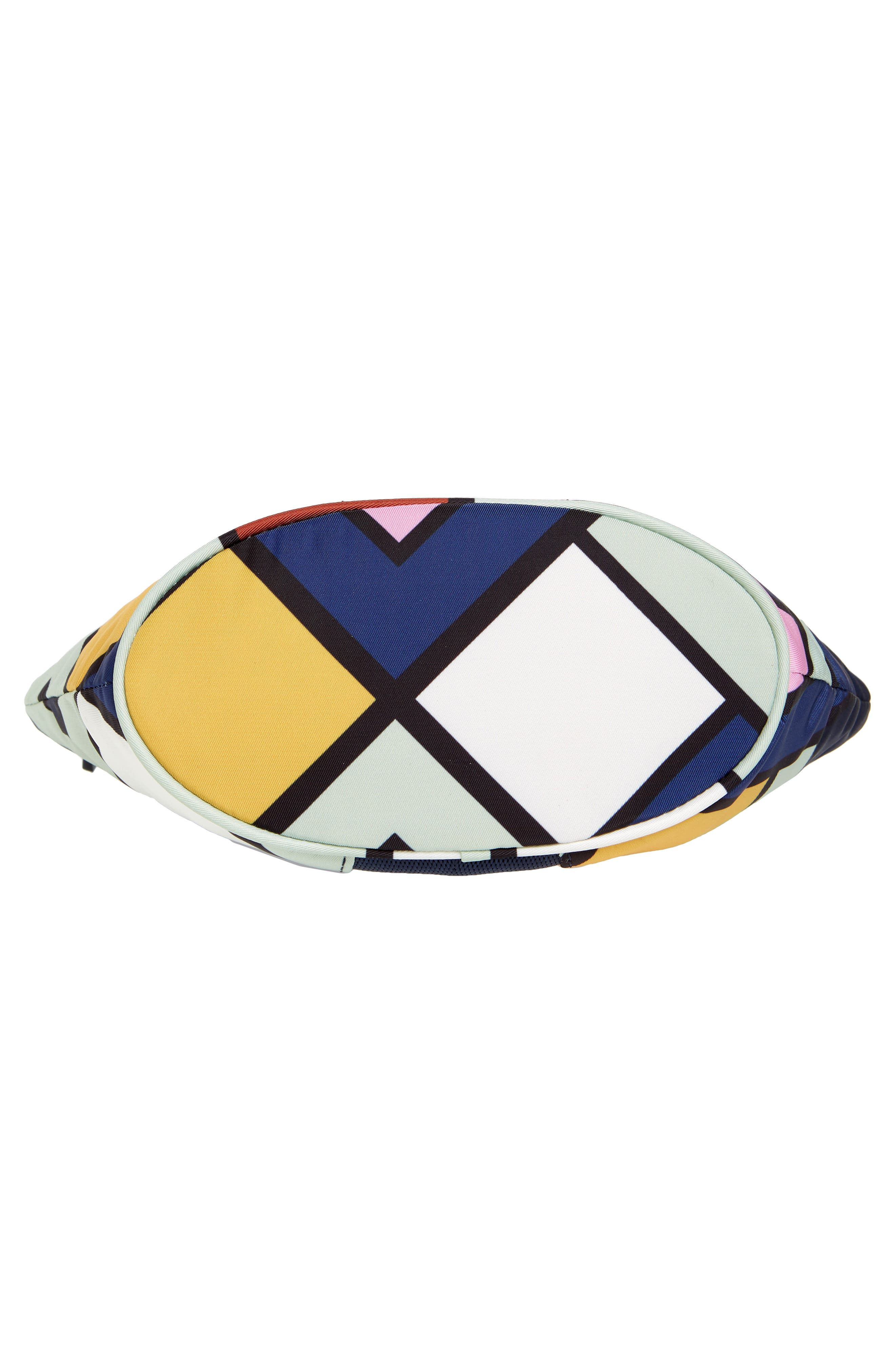Large Dome Nylon Cosmetic Case,                             Alternate thumbnail 5, color,                             NAVY PICNIC BOX