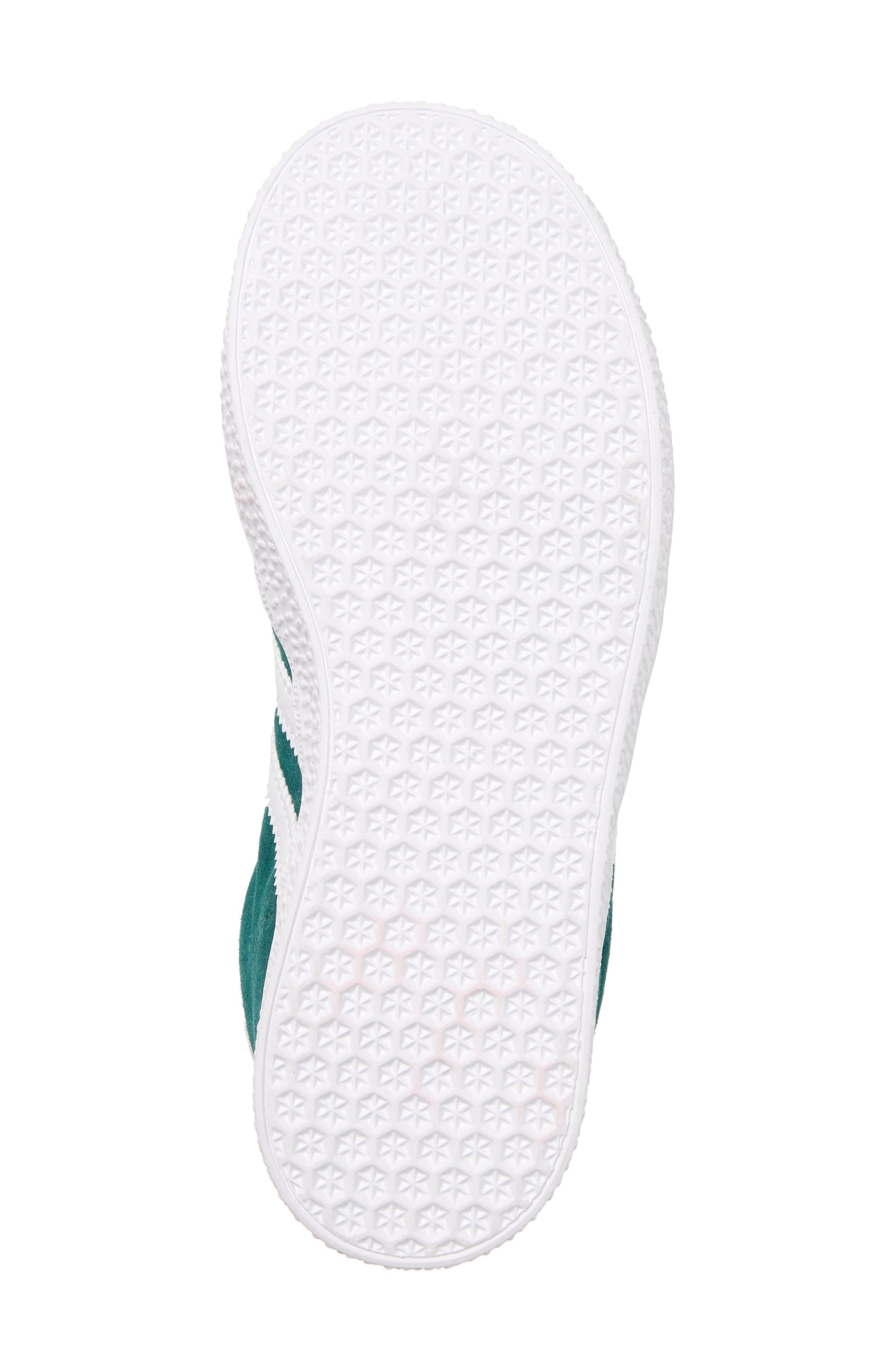 Gazelle Sneaker,                             Alternate thumbnail 6, color,                             NOBLE GREEN/ WHITE