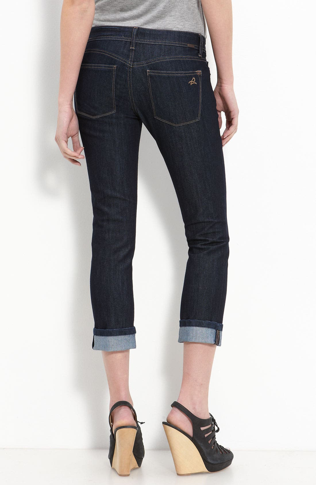 'Tony Highrise' Crop Jeans, Main, color, 405