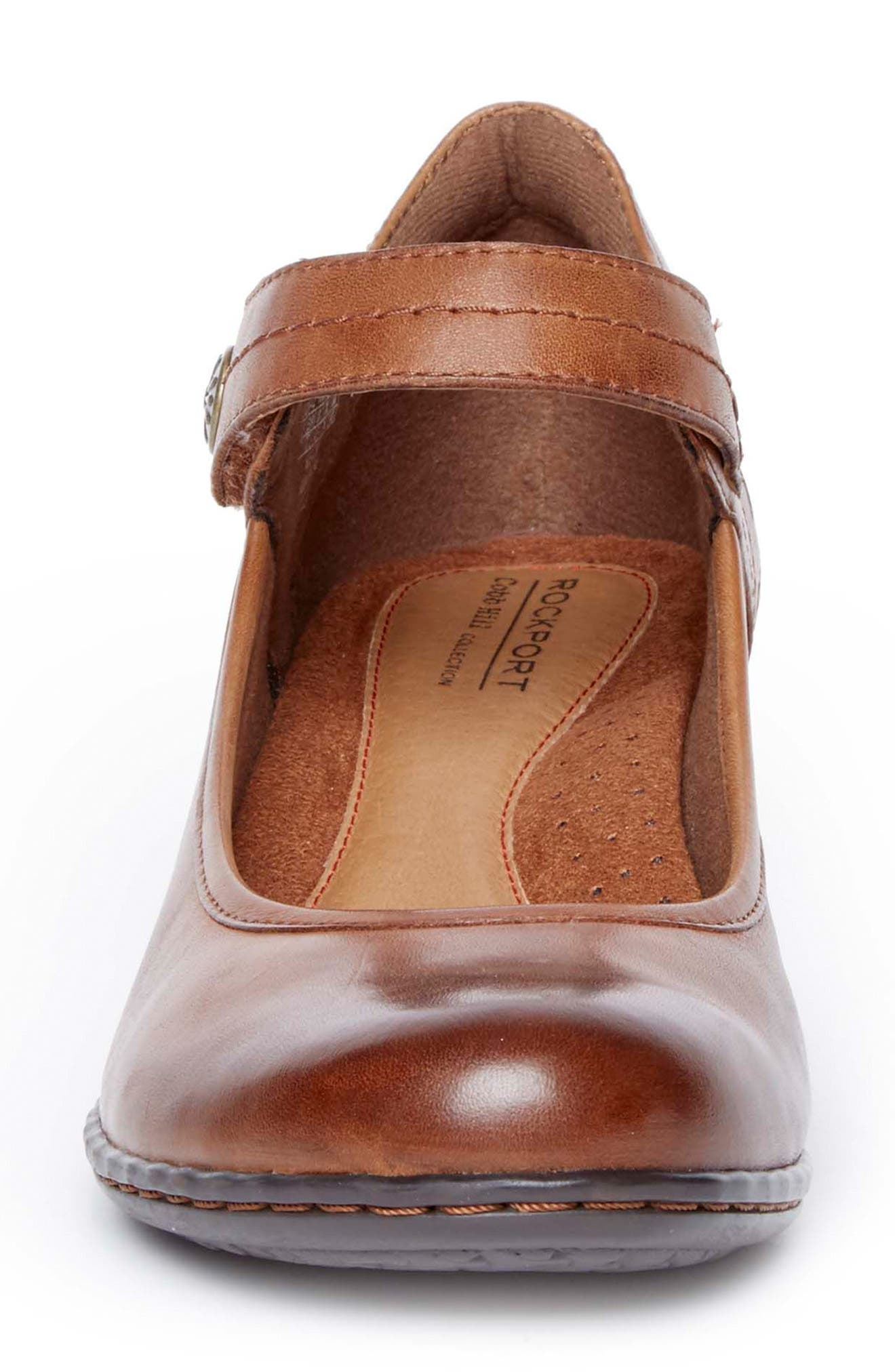 Abbott Mary Jane Pump,                             Alternate thumbnail 4, color,                             ALMOND LEATHER