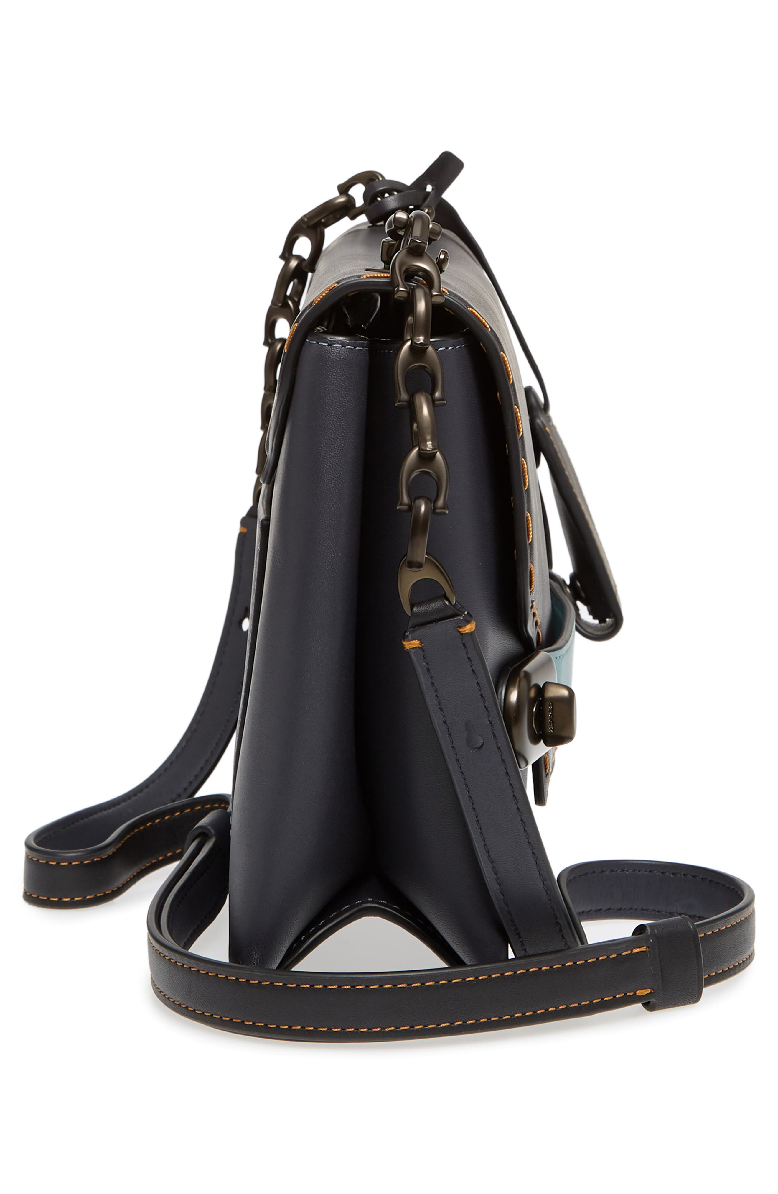 Swagger Chain Leather Crossbody Bag,                             Alternate thumbnail 5, color,                             428