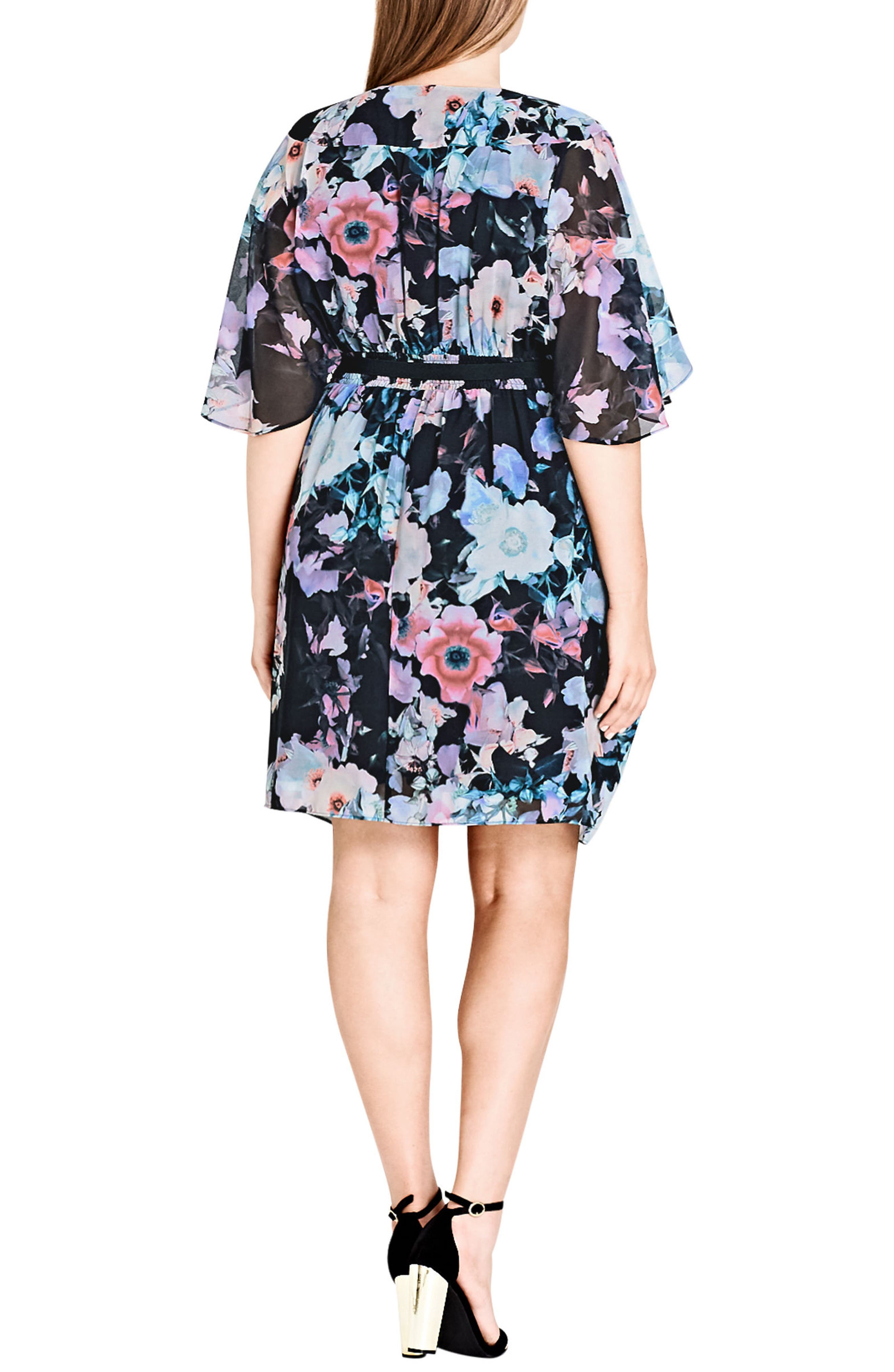 Water Love Belted Faux Wrap Dress,                             Alternate thumbnail 2, color,