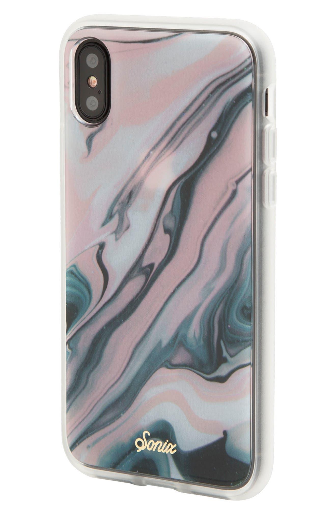 Blush Quartz Print iPhone X Case,                             Alternate thumbnail 2, color,                             650