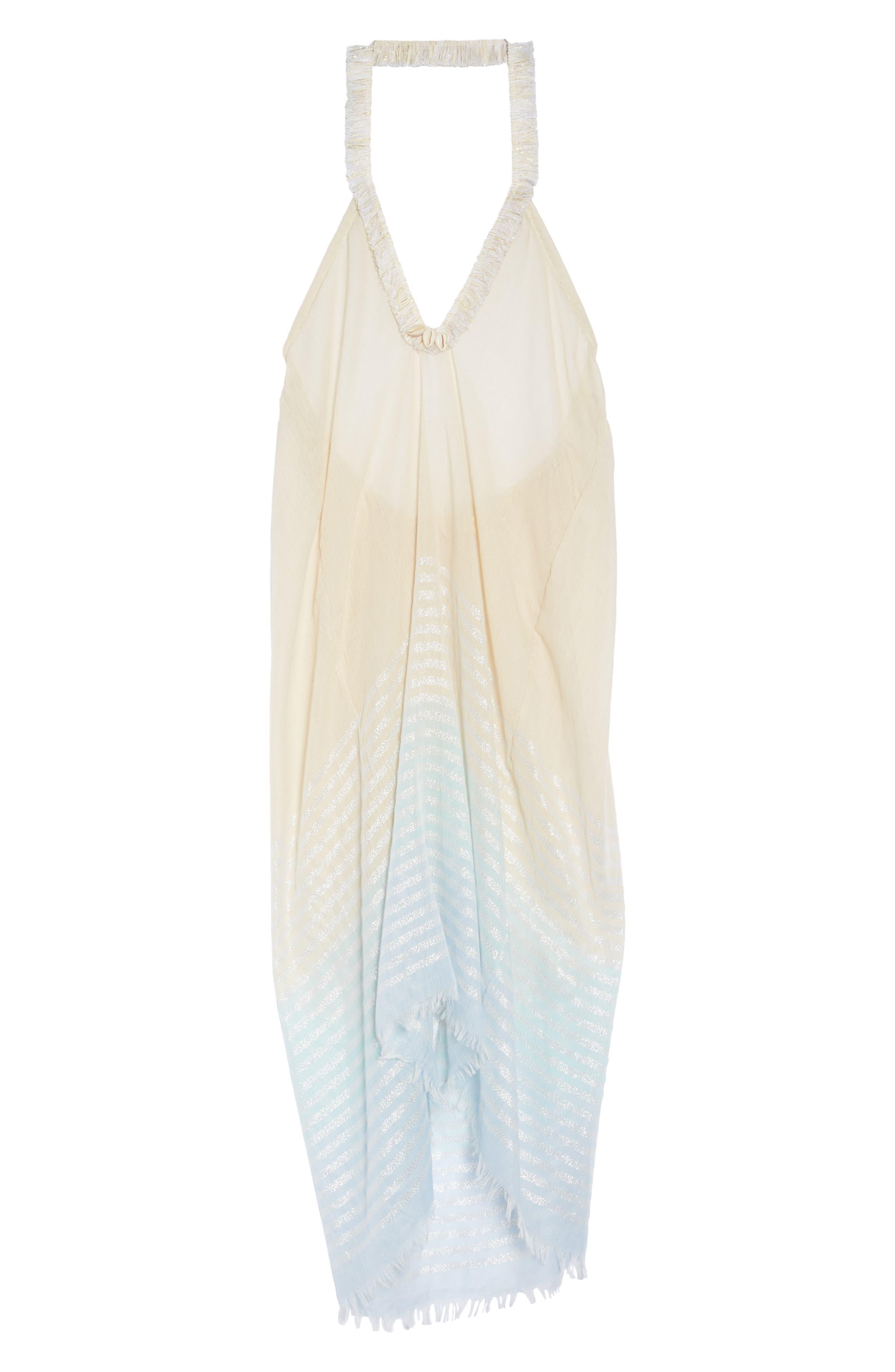 Halter Cover-Up Dress,                             Alternate thumbnail 6, color,                             455