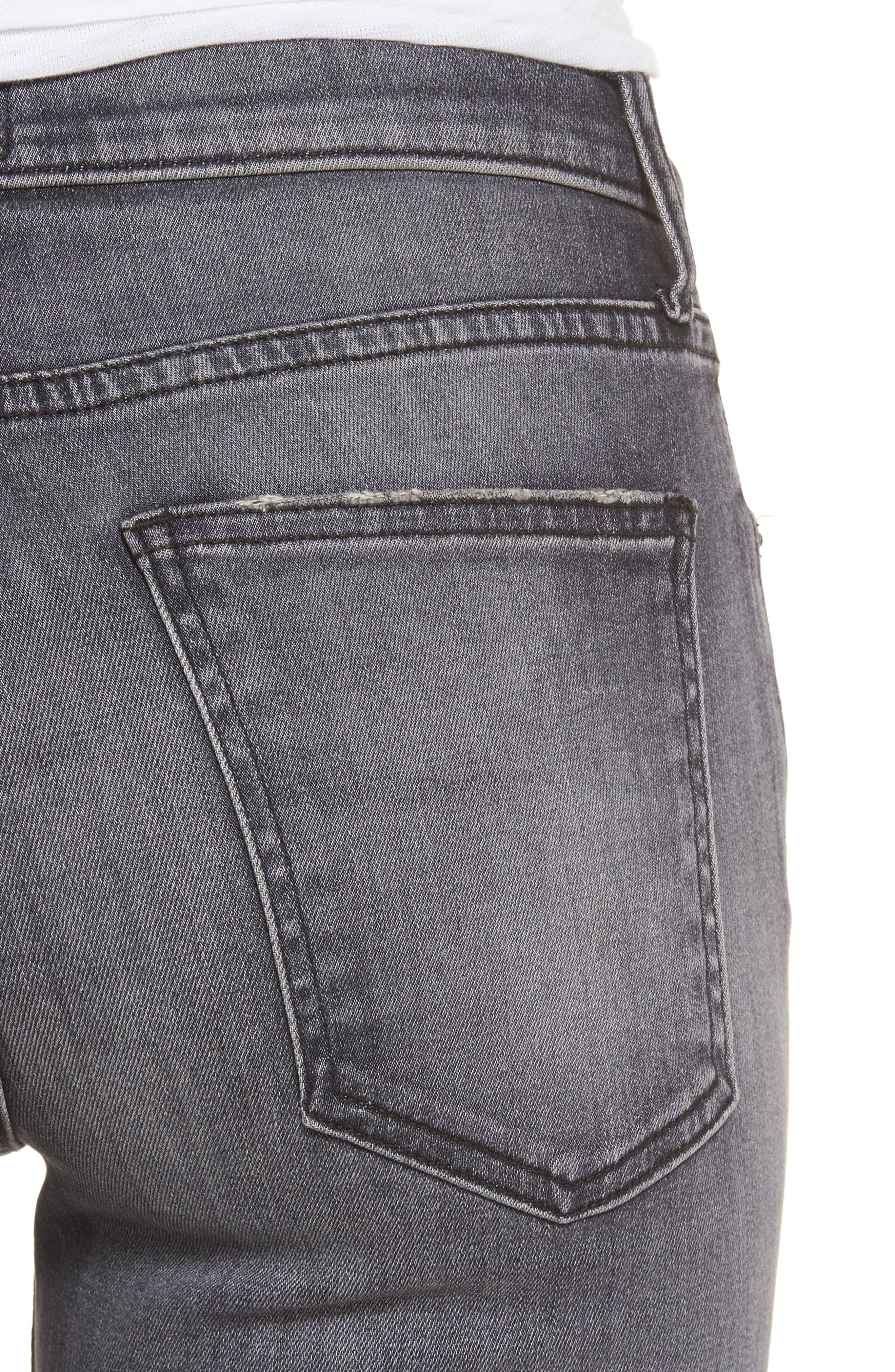 The Kick Raw Hem Crop Jeans,                             Alternate thumbnail 4, color,