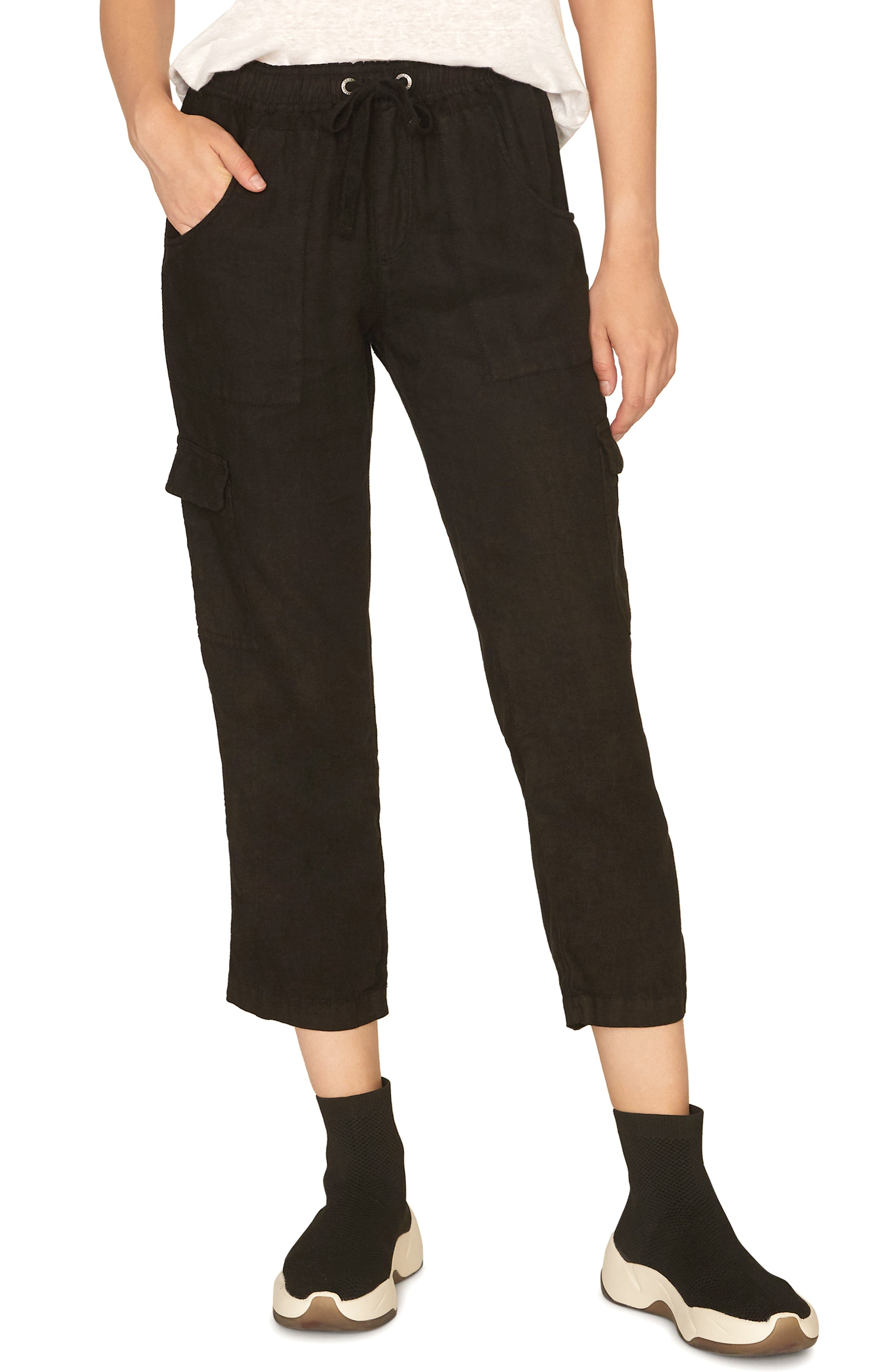 Sanctuary Discoverer Pull-On Cargo Pants, Black