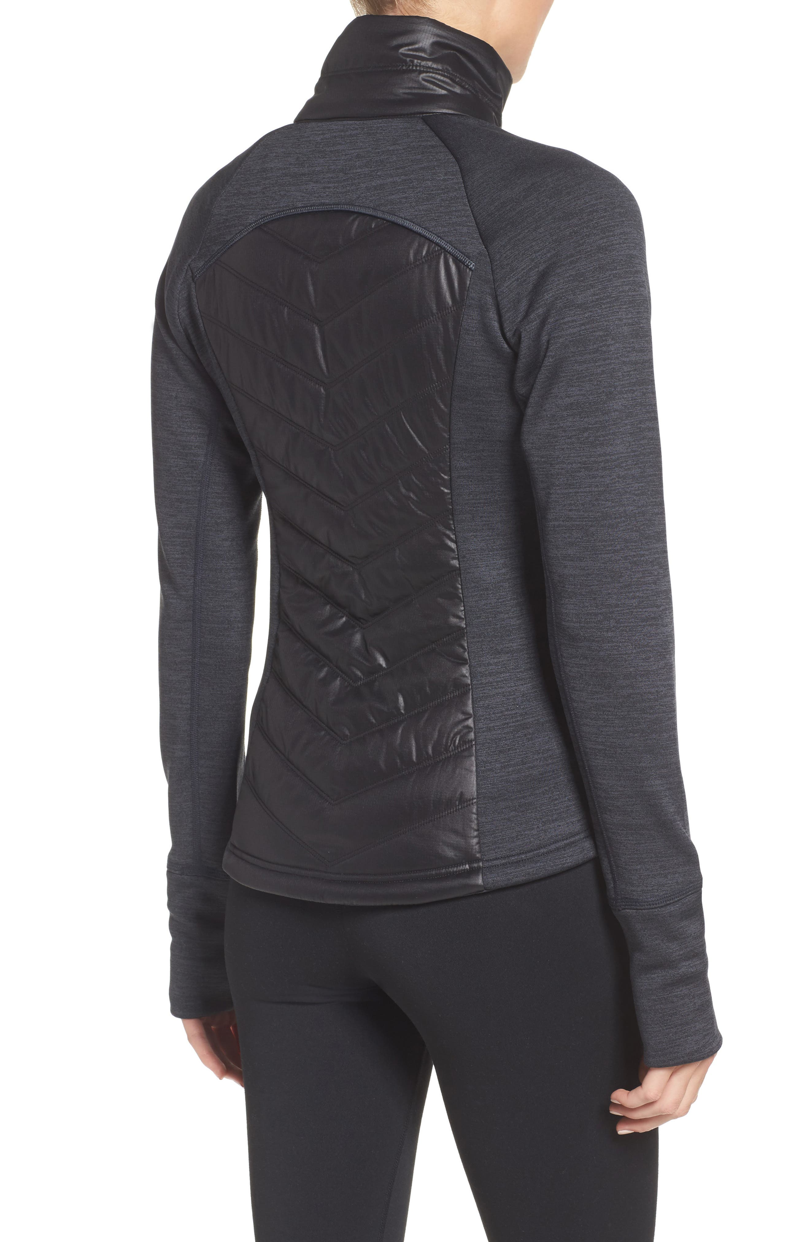 Zelfusion Reflective Quilted Jacket,                             Alternate thumbnail 2, color,                             001