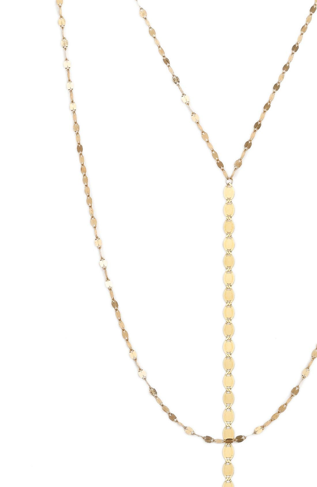 'Nude Blake' Multistrand Drop Necklace,                             Alternate thumbnail 3, color,                             YELLOW GOLD
