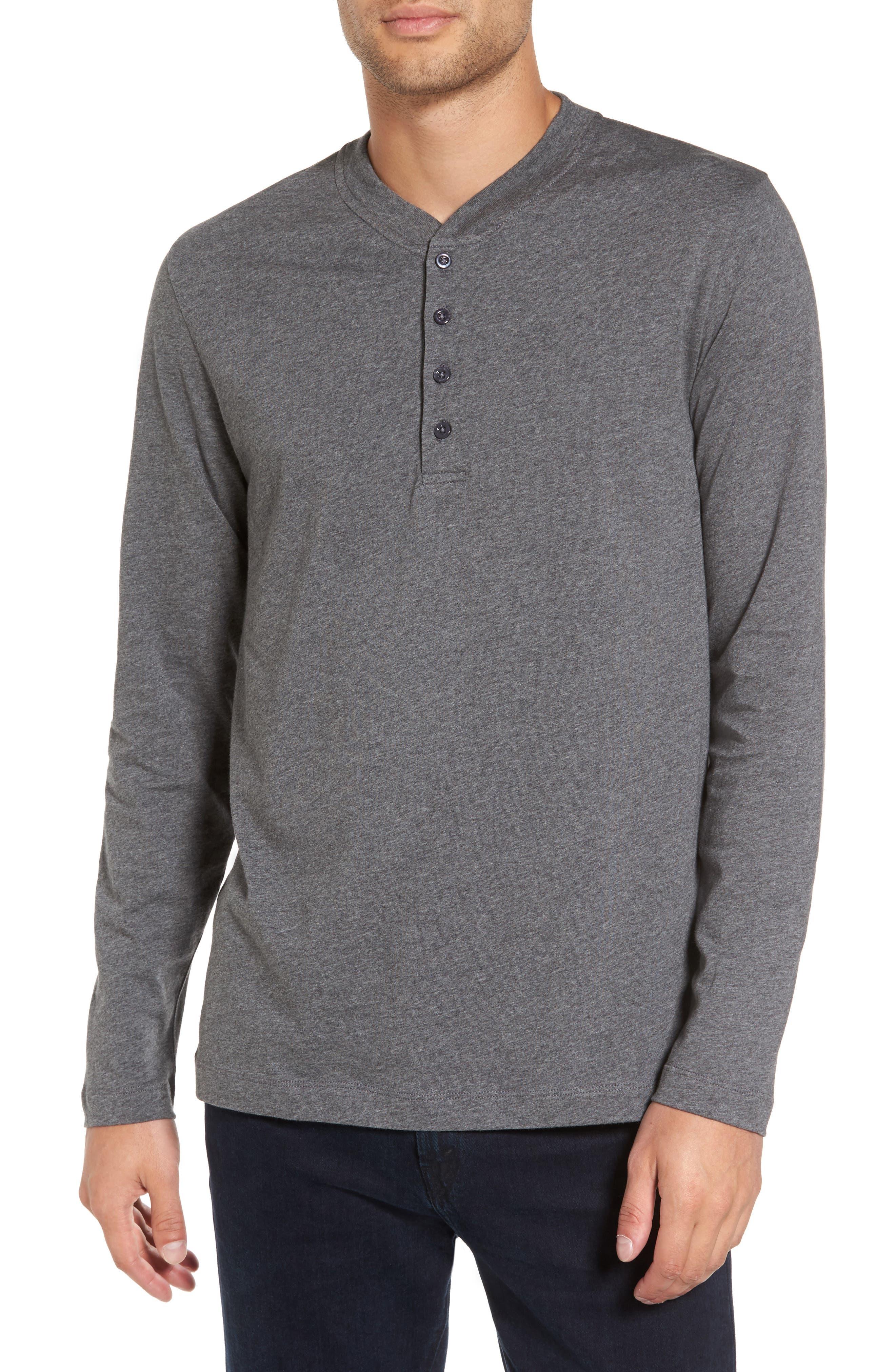 Long Sleeve Henley T-Shirt,                         Main,                         color, 020