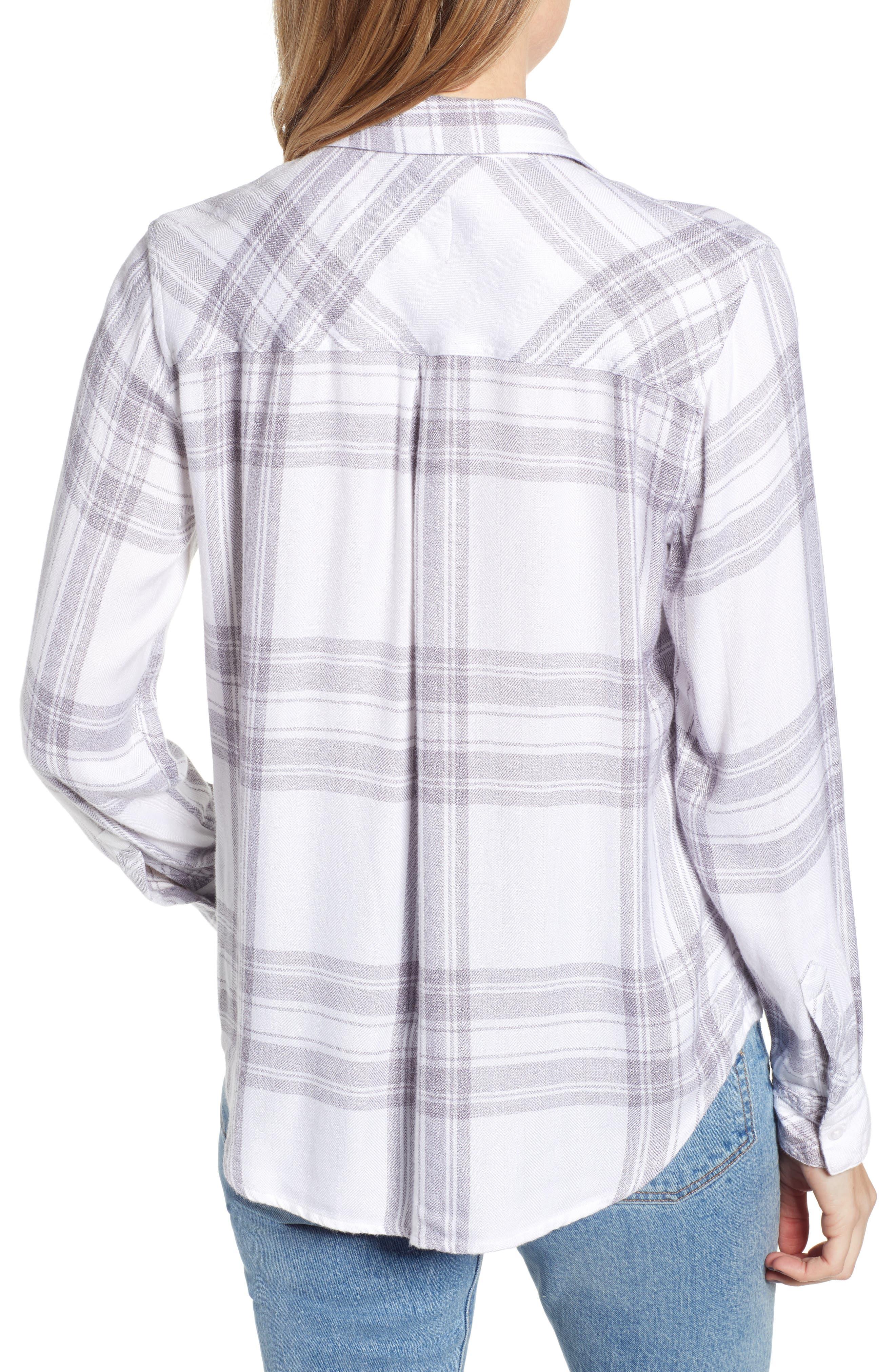 RAILS,                             Hunter Plaid Shirt,                             Alternate thumbnail 2, color,                             WHITE PEPPER