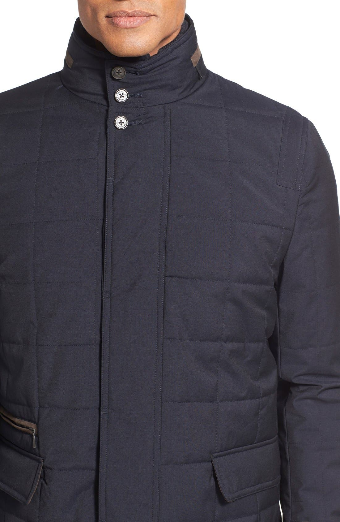Quilted Wool Parka,                             Alternate thumbnail 4, color,                             410