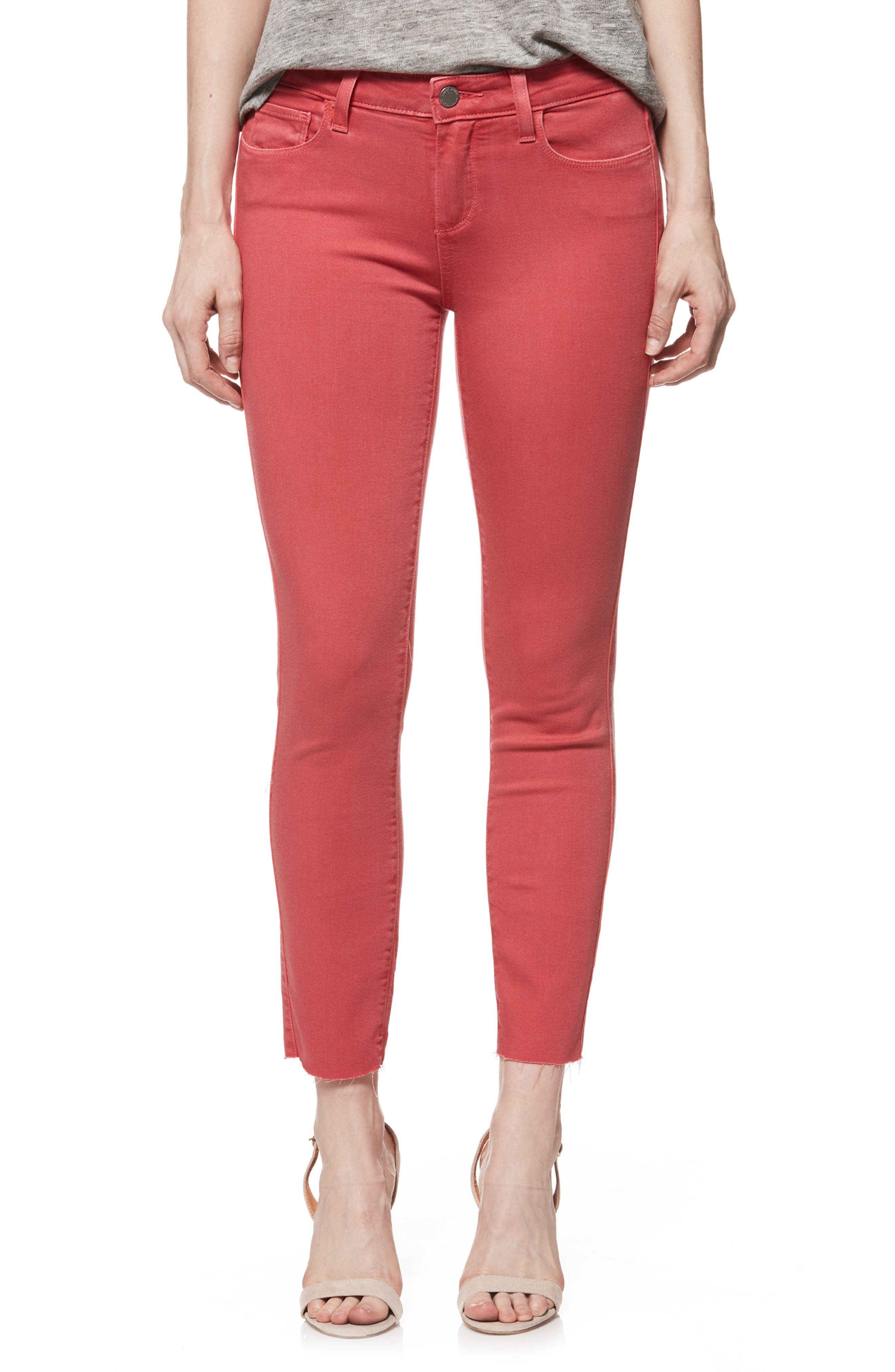 Transcend - Verdugo Raw Hem Crop Skinny Jeans,                             Main thumbnail 1, color,                             601
