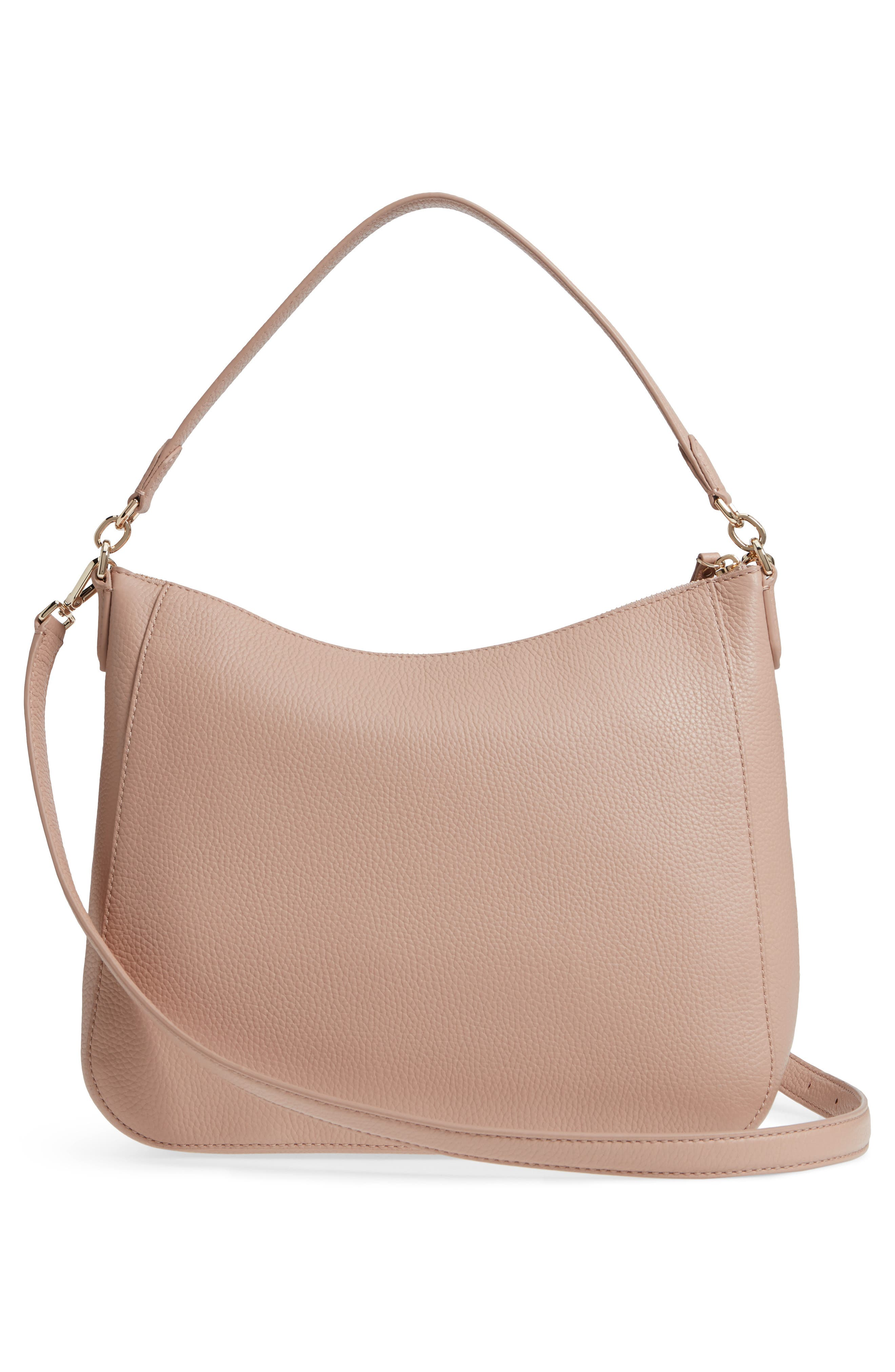 trent hill - quincy leather hobo,                             Alternate thumbnail 6, color,