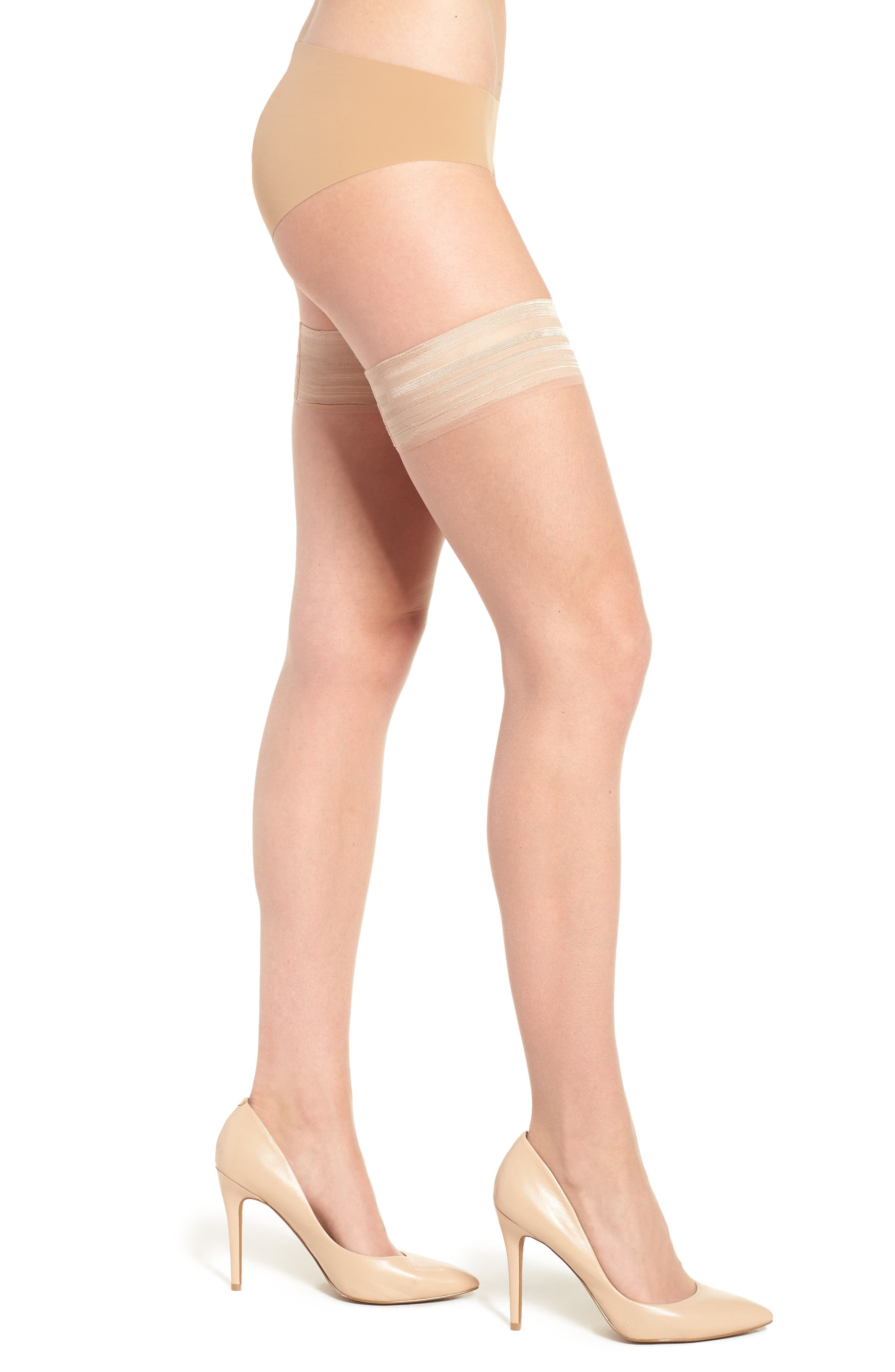 Donna Karan Beyond The Nudes Stay-Up Stockings,                             Main thumbnail 2, color,