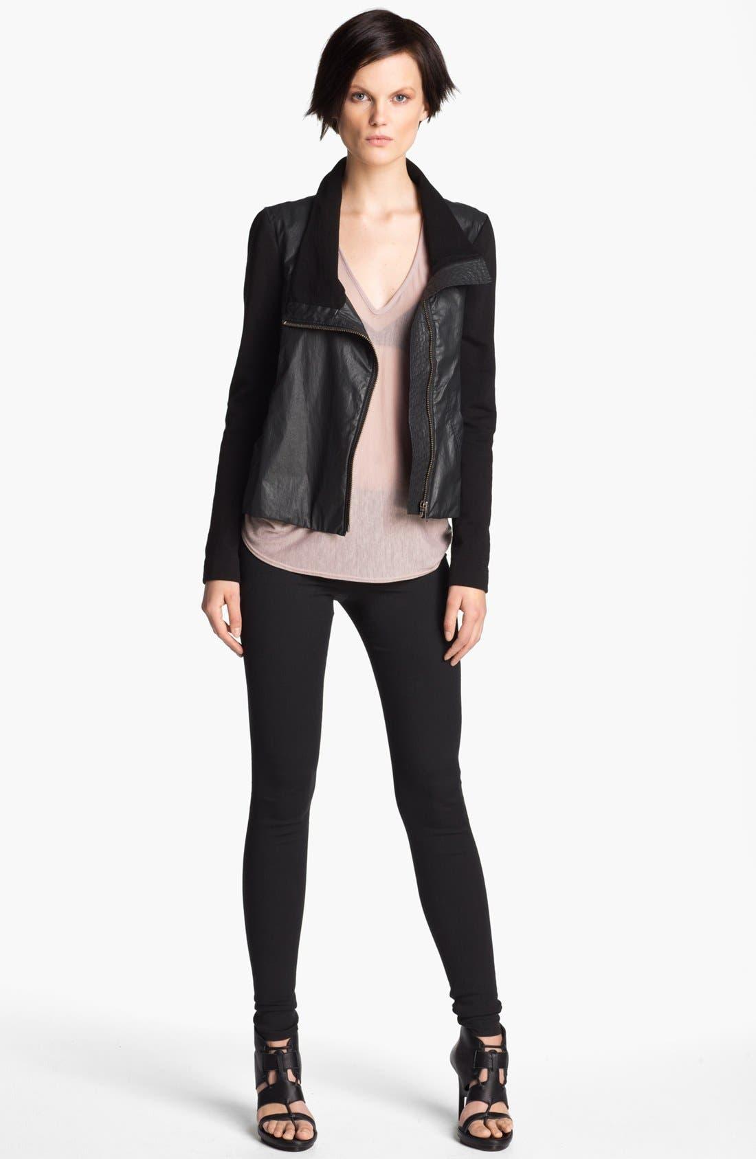 HELMUT Helmut Lang Glazed Cotton Jacket,                             Alternate thumbnail 4, color,