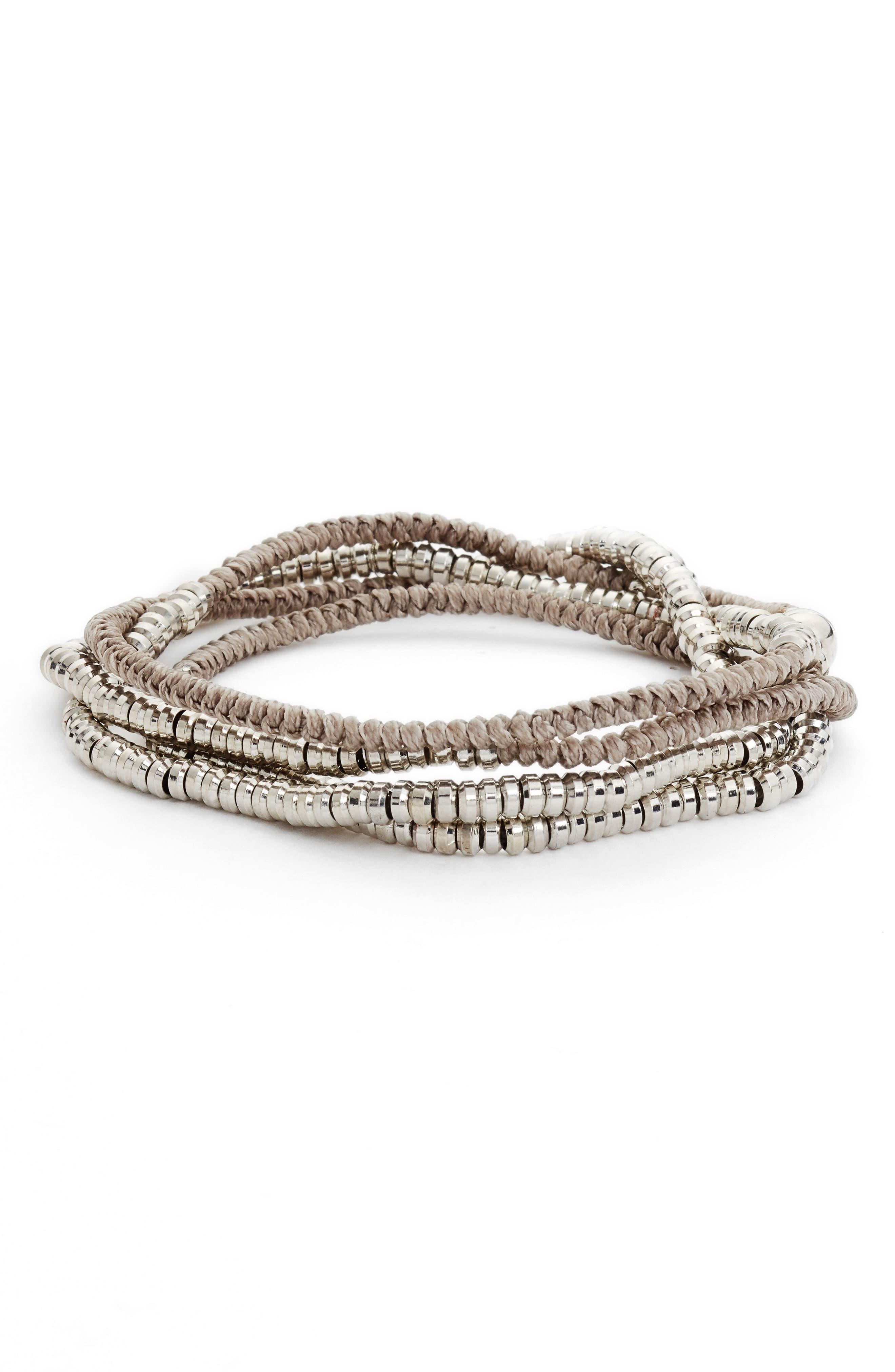 Heishi Wrap Bracelet,                             Main thumbnail 2, color,