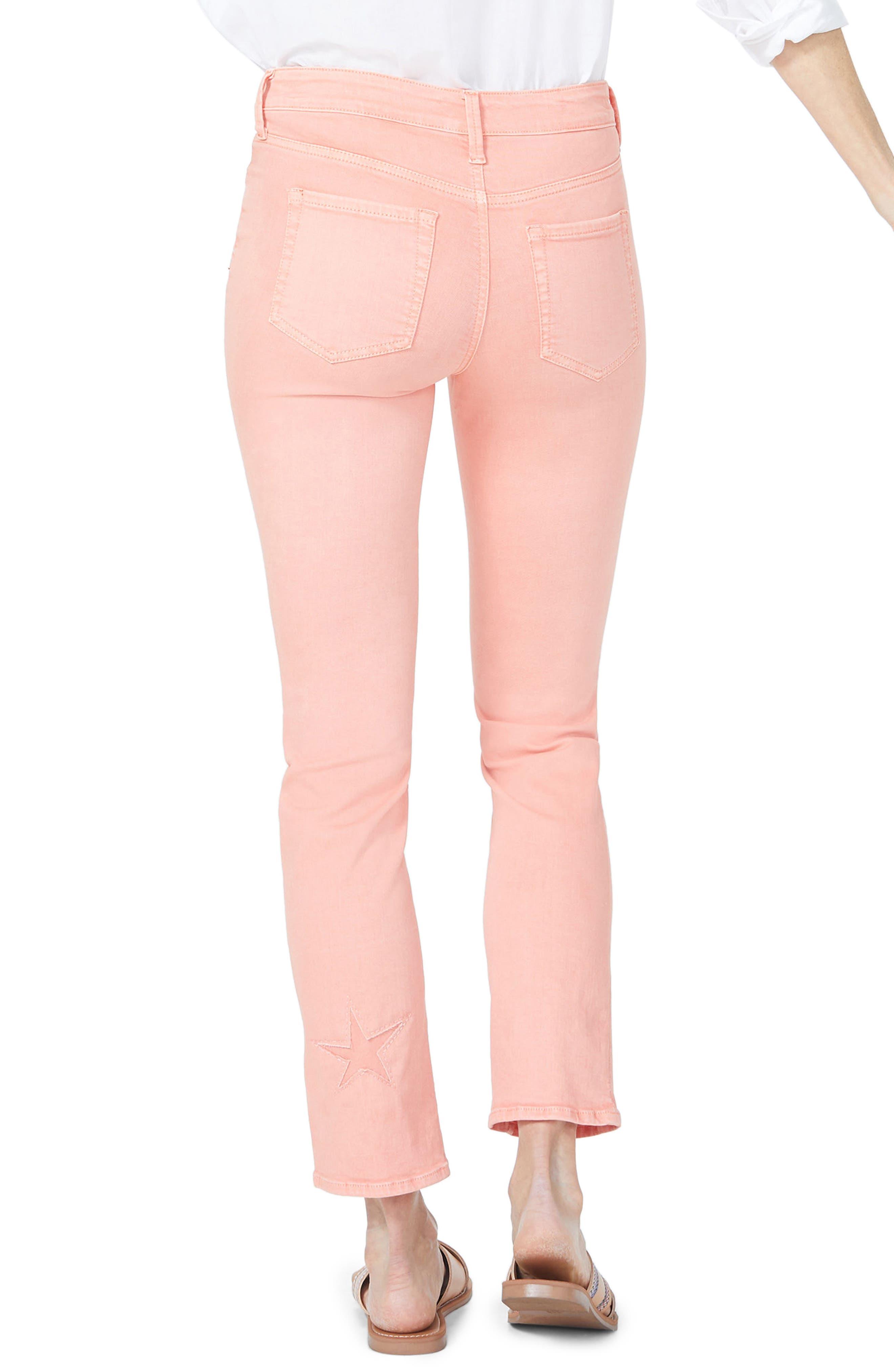 Lasercut Starfish Stretch Slim Ankle Pants,                             Alternate thumbnail 2, color,