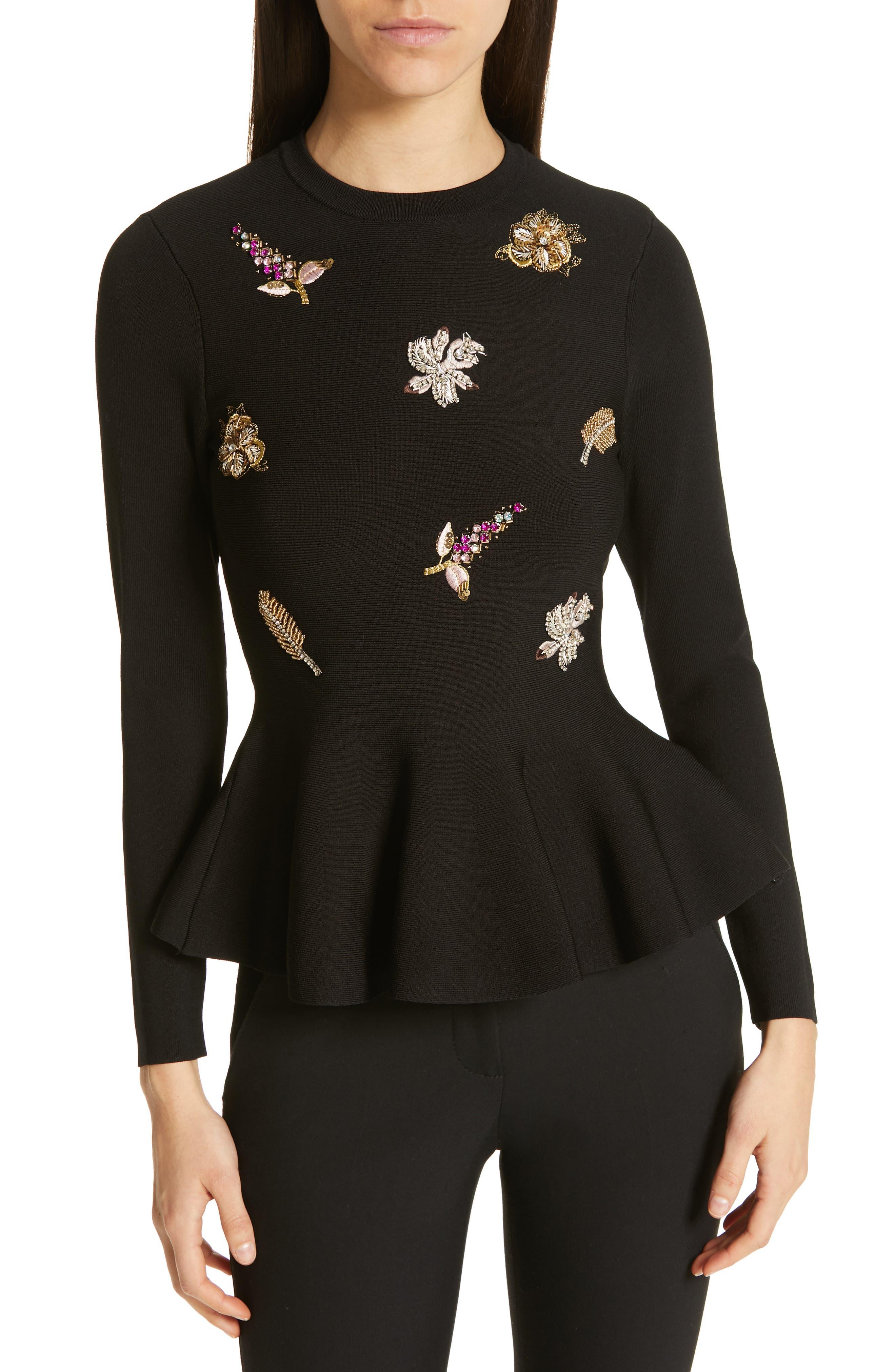 Tynna Embellished Sweater in Black