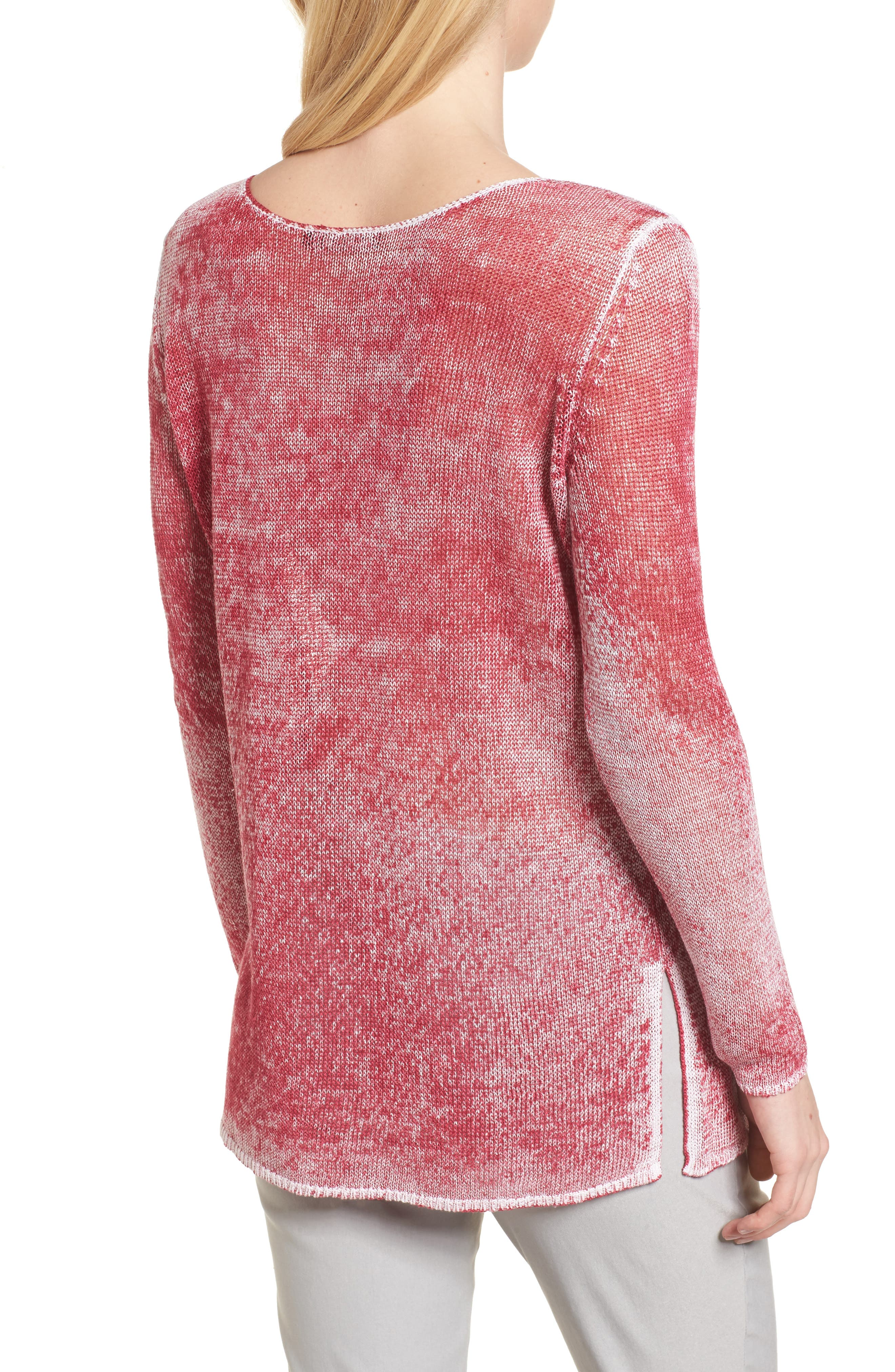 NIC + ZOE Poolside Linen Blend Sweater,                             Alternate thumbnail 7, color,