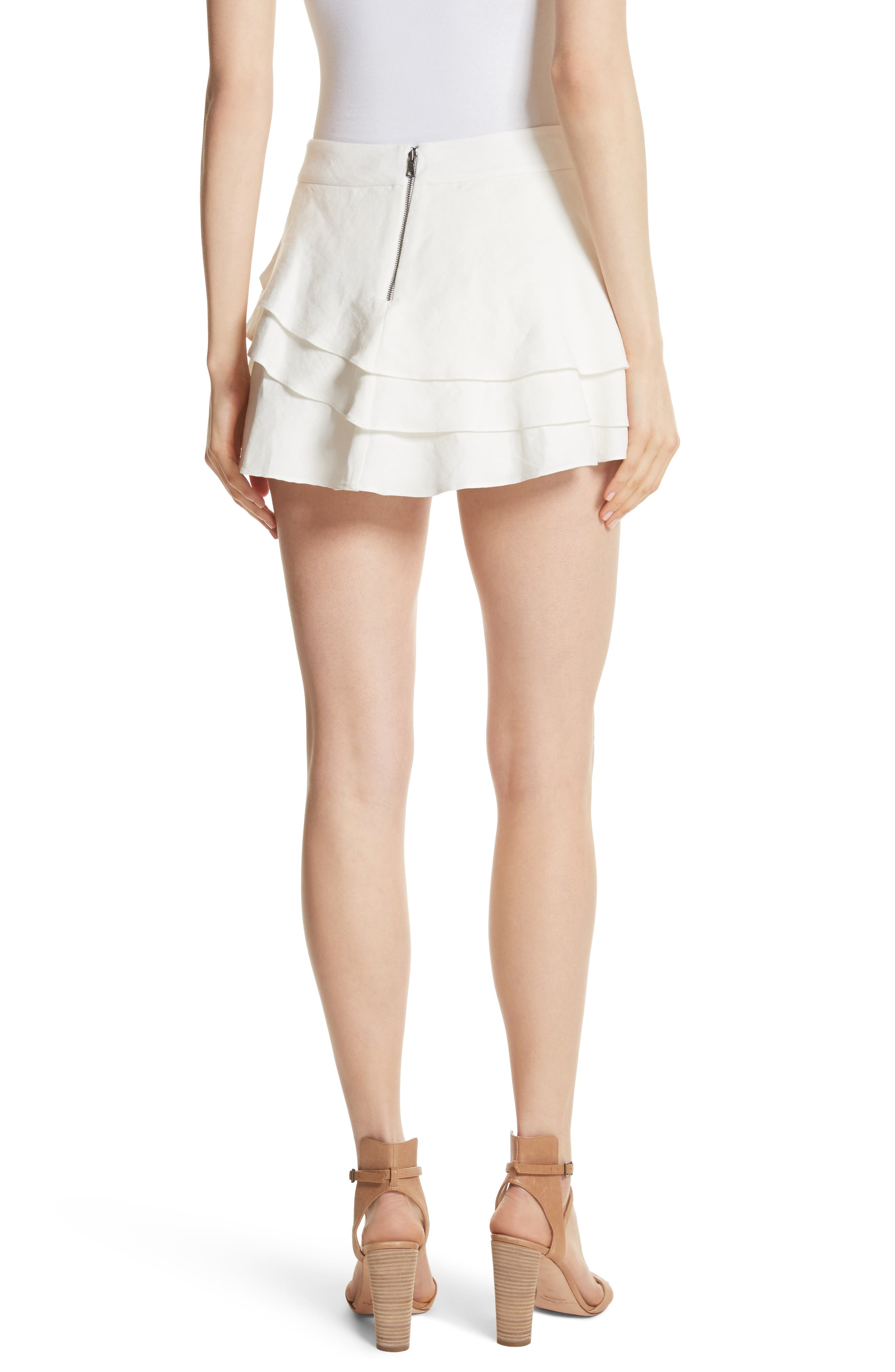 ALICE + OLIVIA,                             Mariella Tiered Ruffle Skort,                             Alternate thumbnail 2, color,                             127