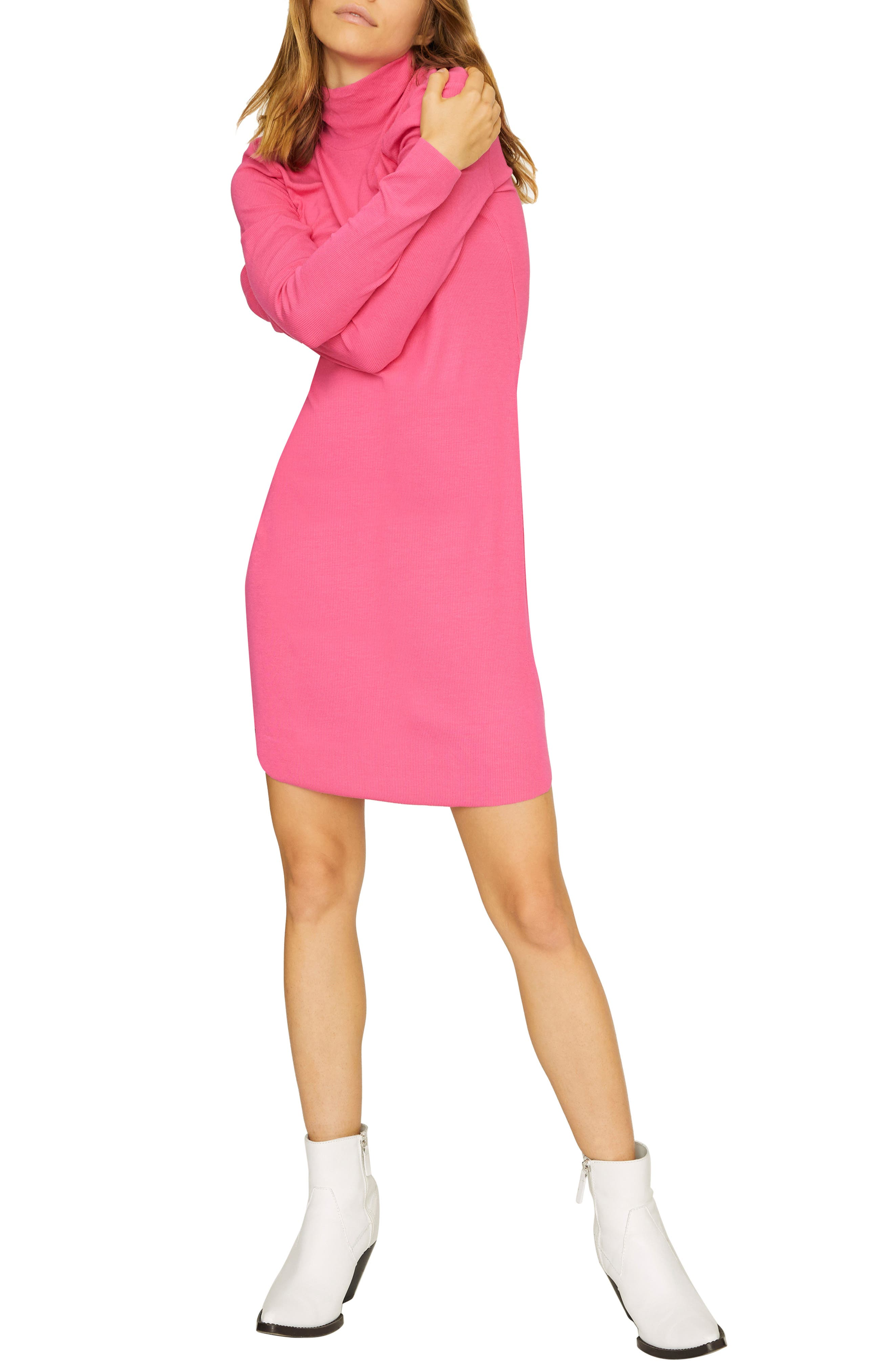 Sanctuary Essentials Rib Shift Dress, Pink