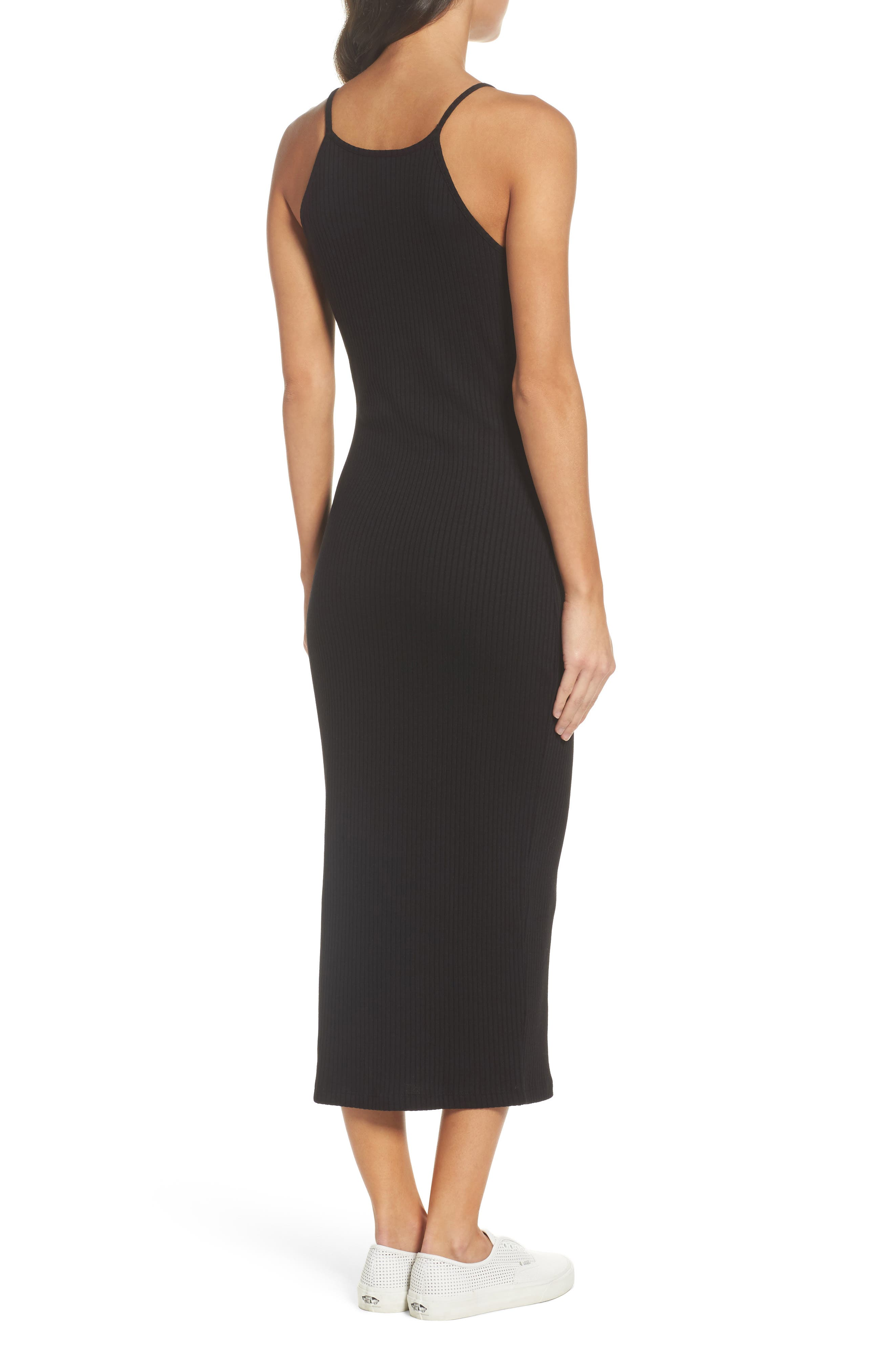 Tommy Body-Con Midi Dress,                             Alternate thumbnail 2, color,                             001