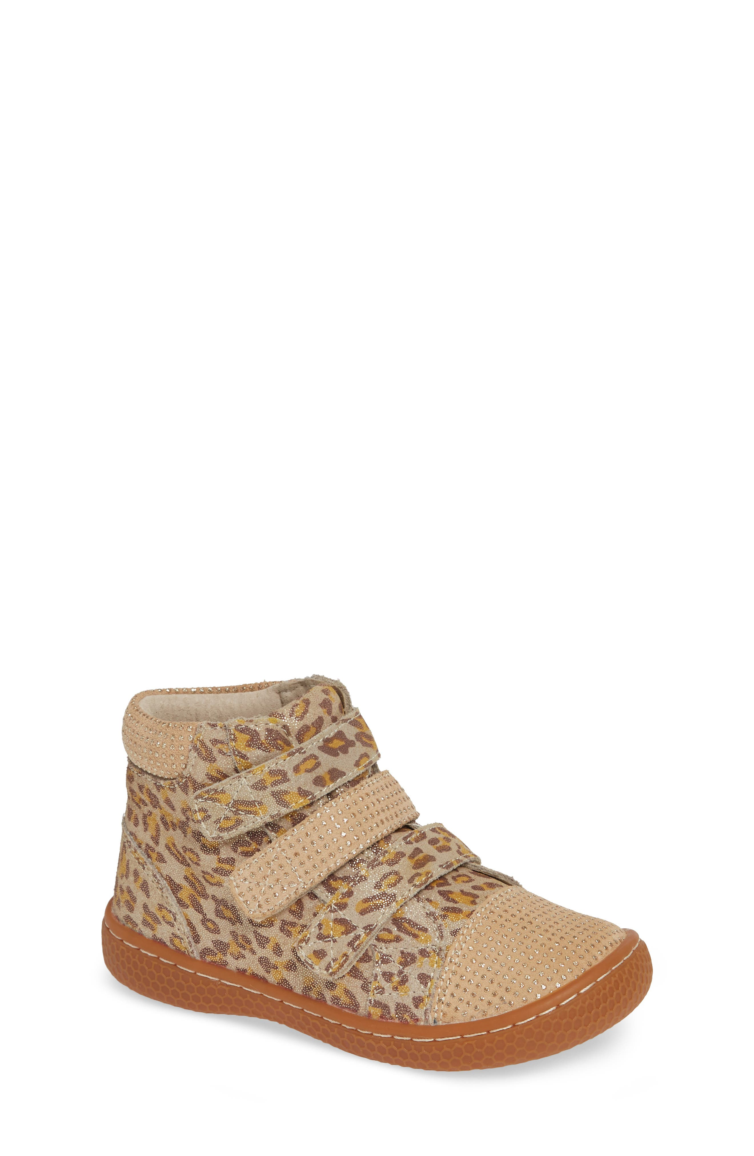 'Jamie' High Top Sneaker,                             Main thumbnail 1, color,                             LEOPARD SHIMMER