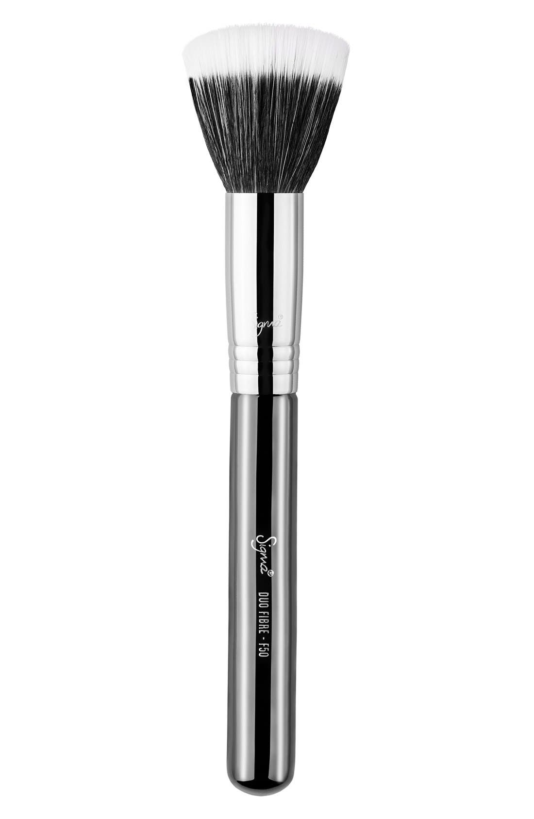 SIGMA BEAUTY,                             F50 Duo Fibre Brush,                             Main thumbnail 1, color,                             NO COLOR