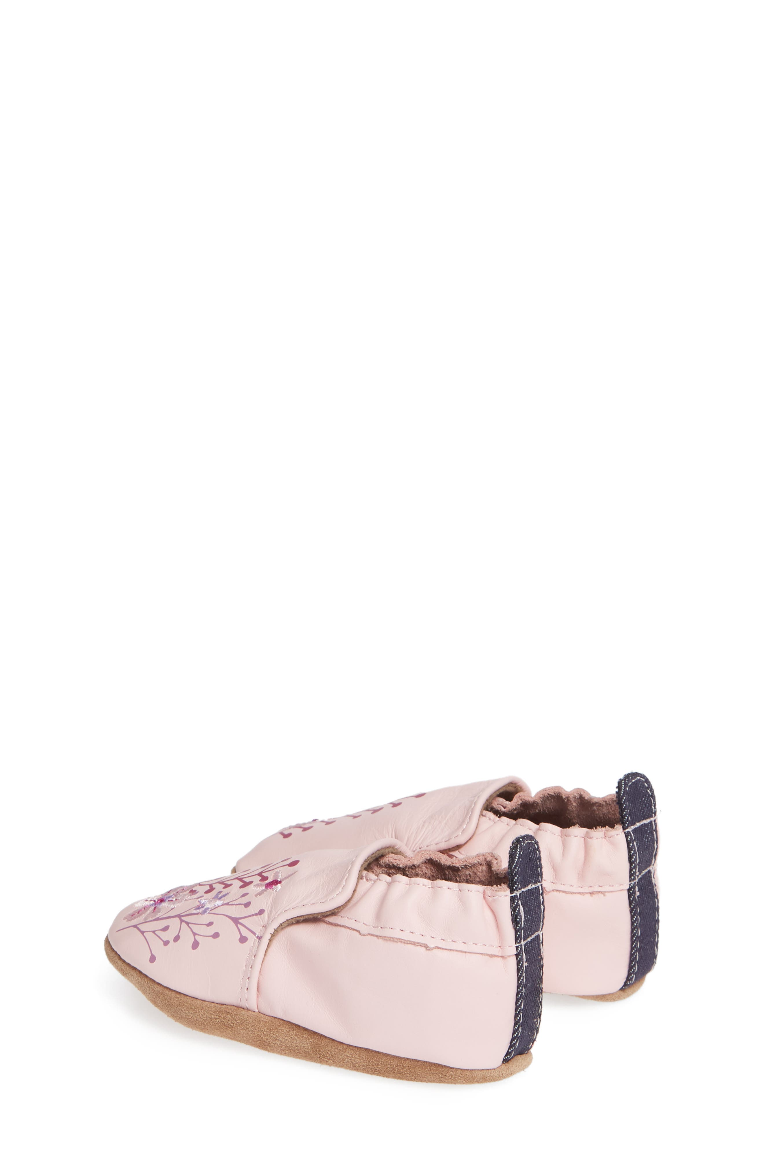 Blooming Floral Crib Shoe,                             Alternate thumbnail 2, color,                             LIGHT PINK