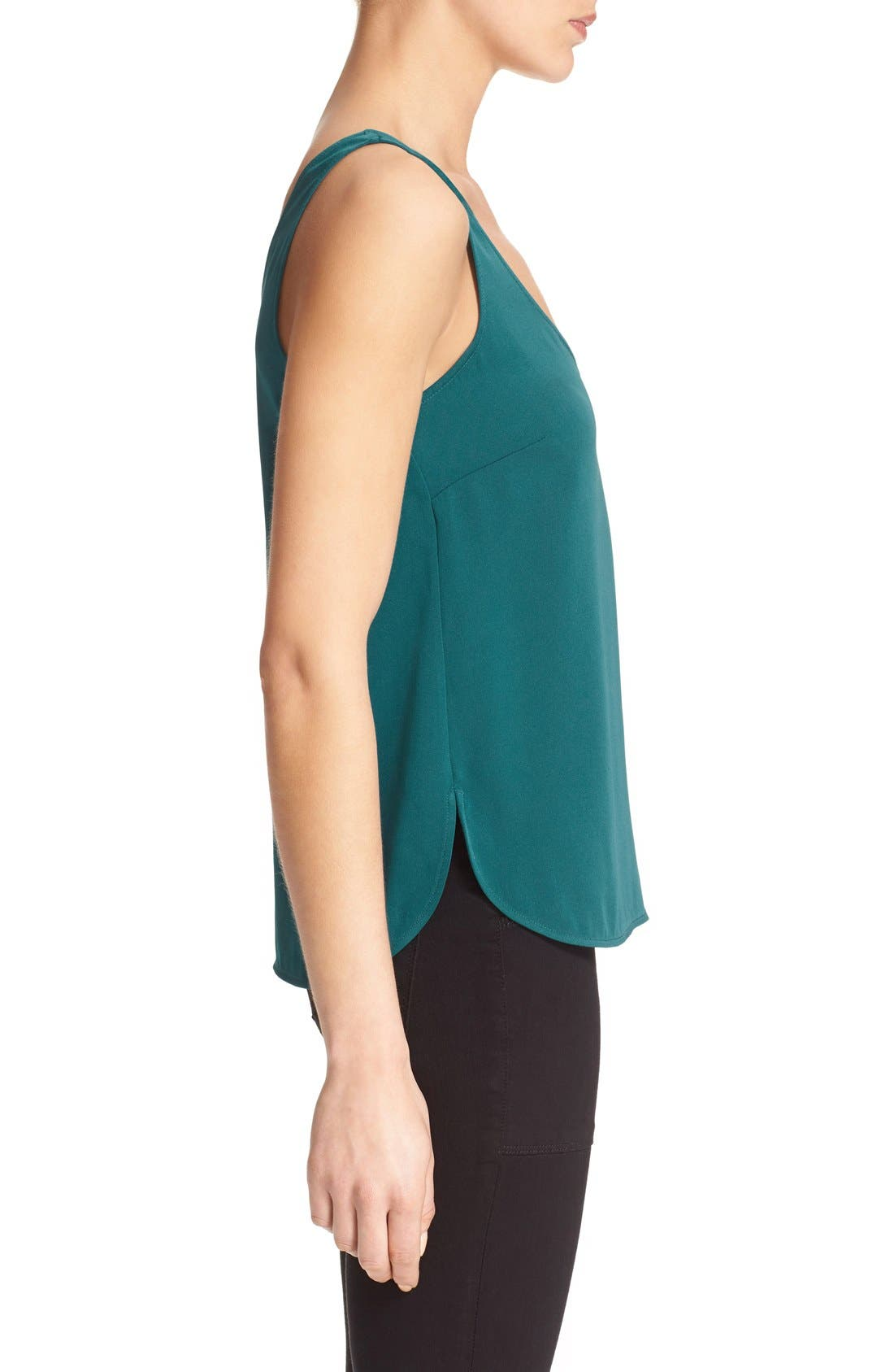 'The Scoop' Stretch Silk Tank,                             Alternate thumbnail 5, color,                             300