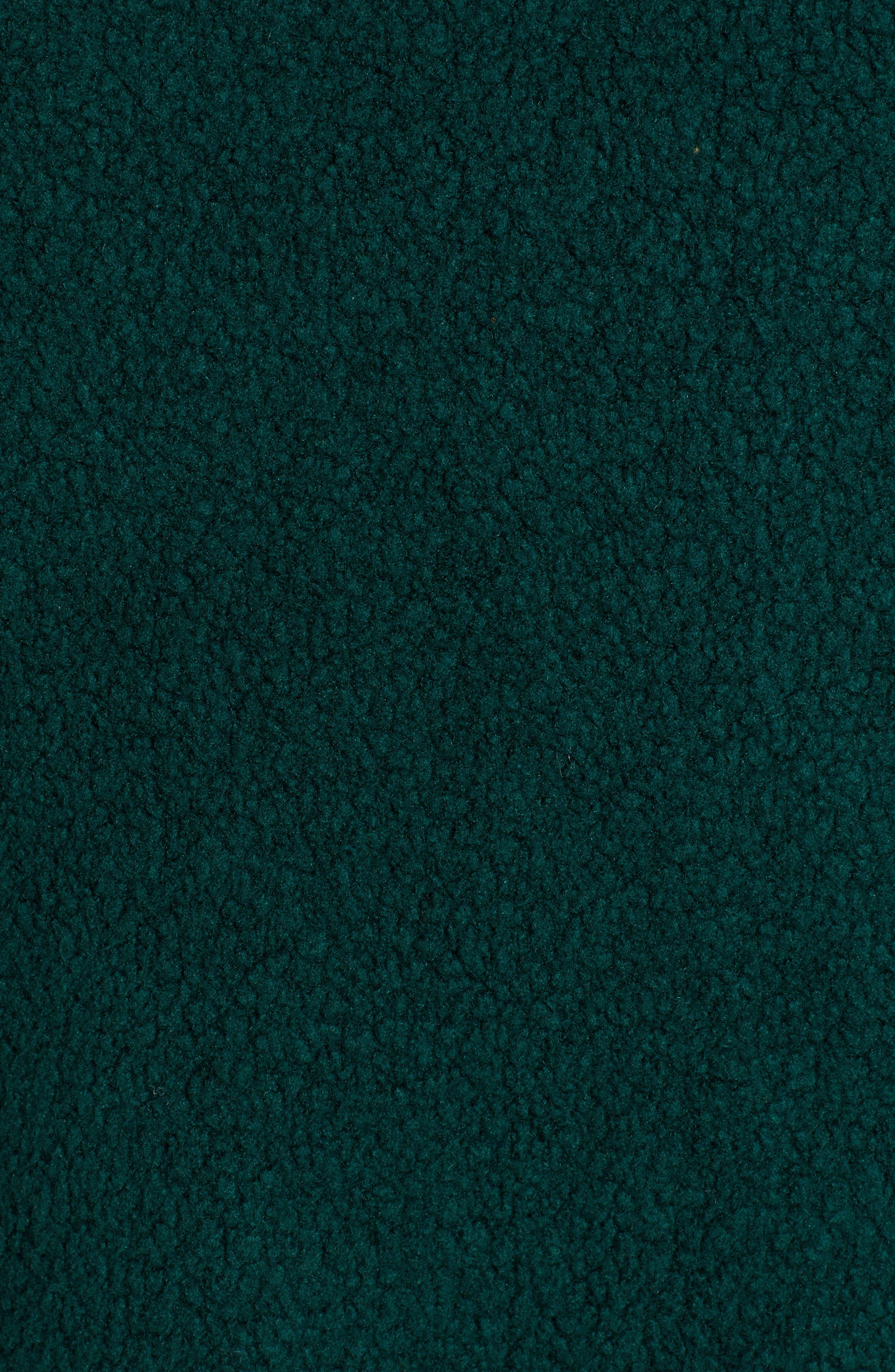 Velvet Stripe Crop Fleece Sweatshirt,                             Alternate thumbnail 5, color,                             BOTANICAL GREEN