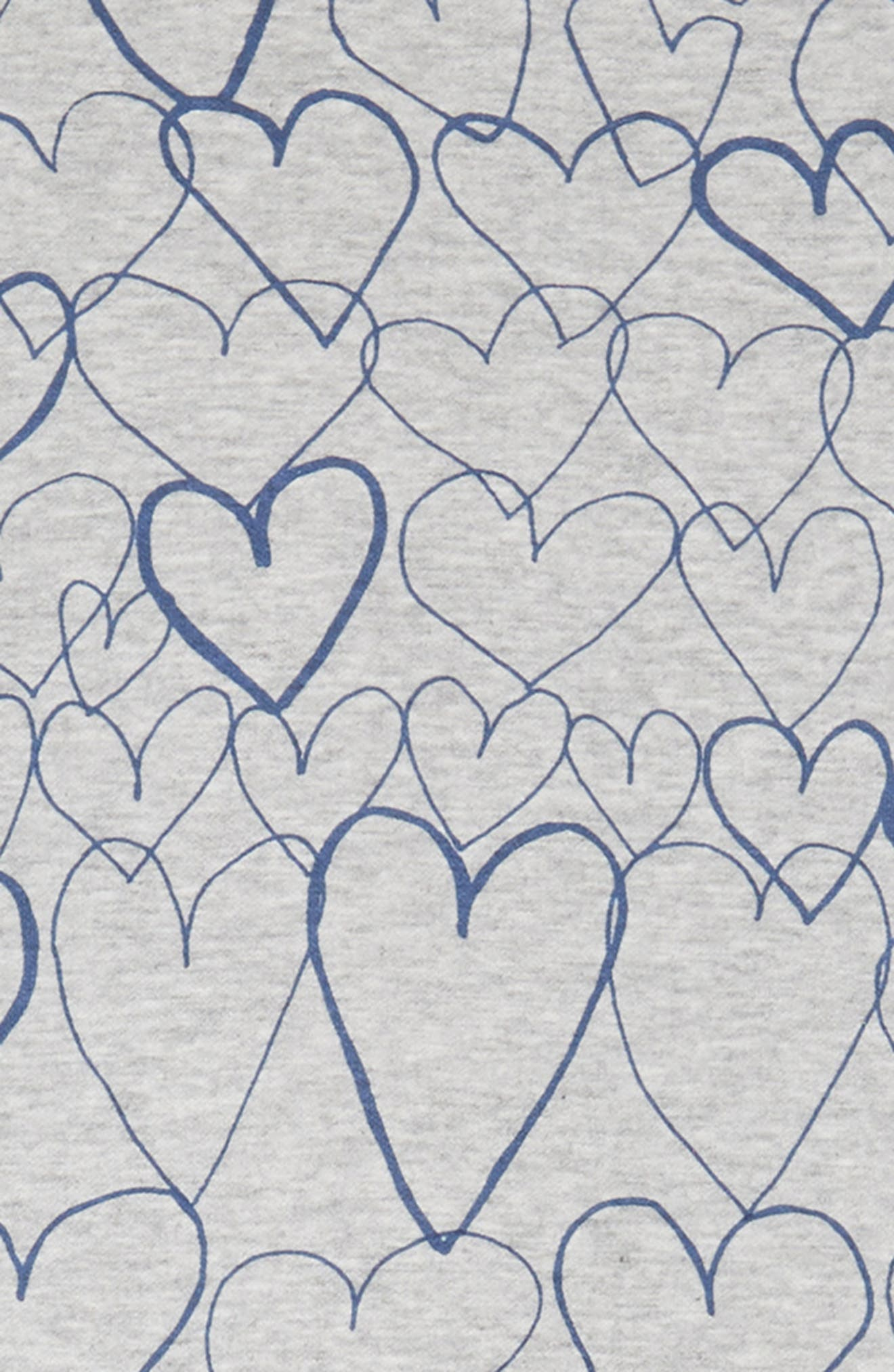Marion Heart Print Dress,                             Alternate thumbnail 3, color,                             GREY BLUE