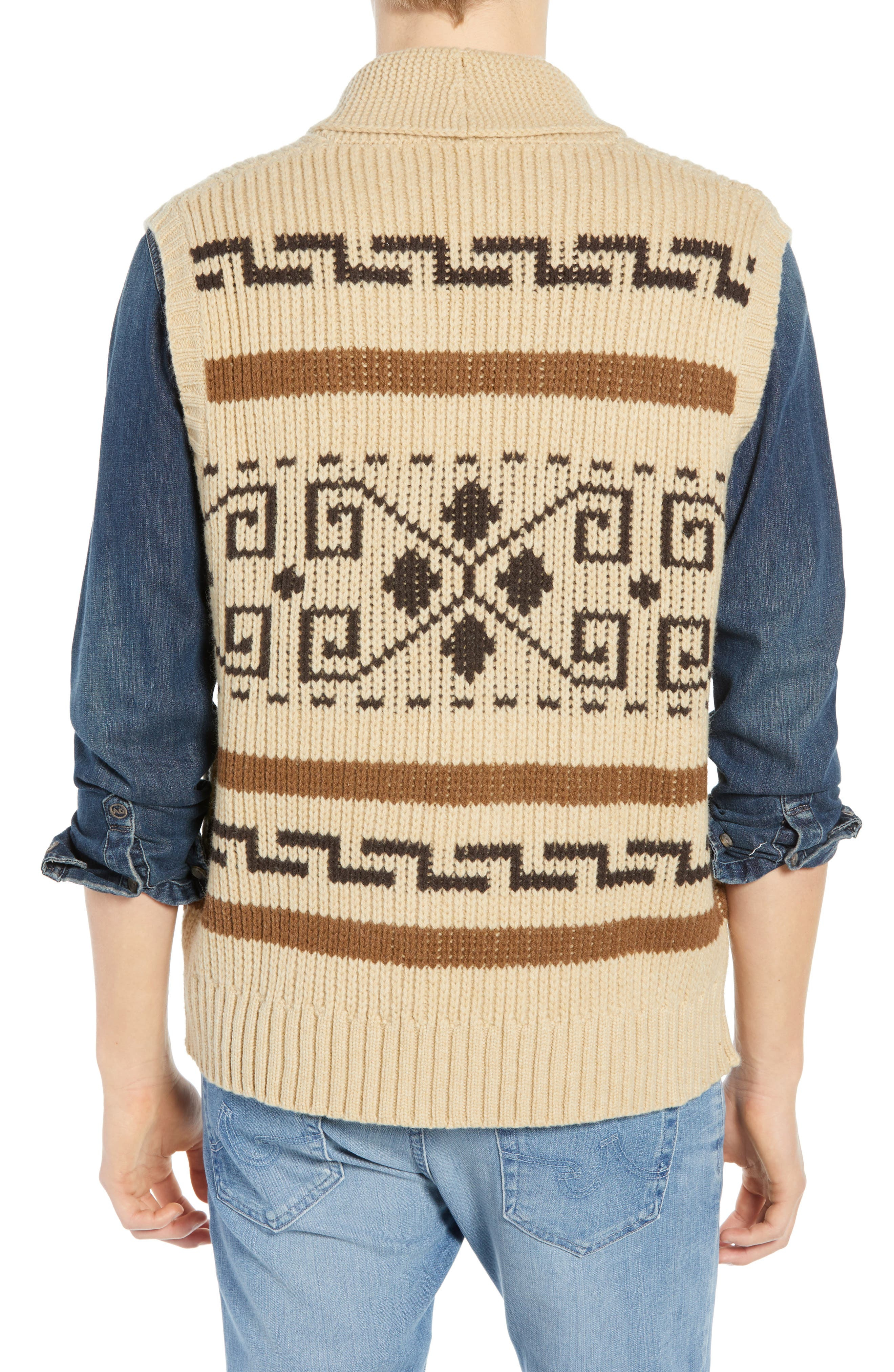 Original Westerley Sweater Vest,                             Alternate thumbnail 2, color,                             TAN/ BROWN