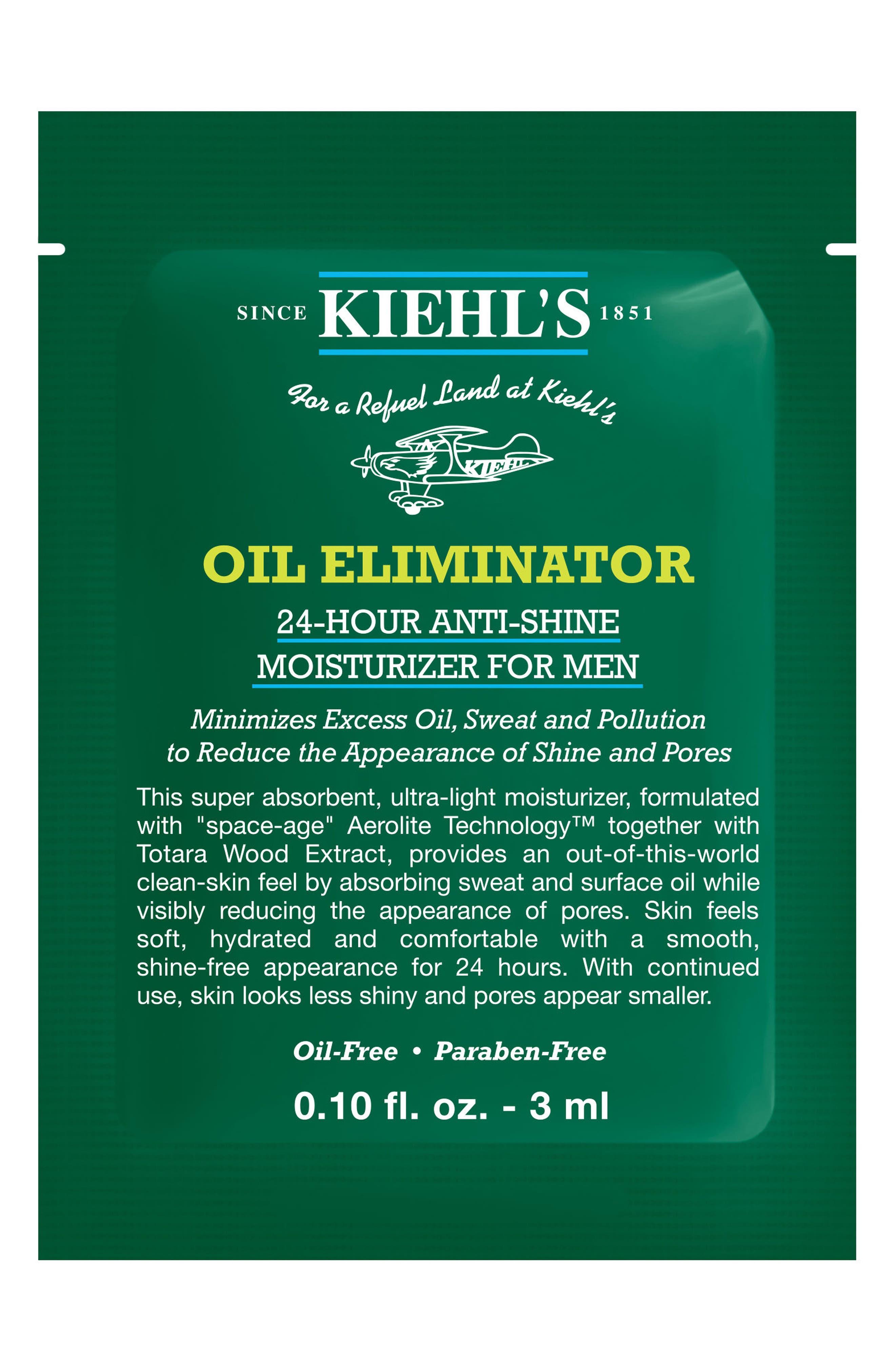 'Oil Eliminator' 24-Hour Anti-Shine Moisturizer for Men,                             Alternate thumbnail 4, color,                             NO COLOR