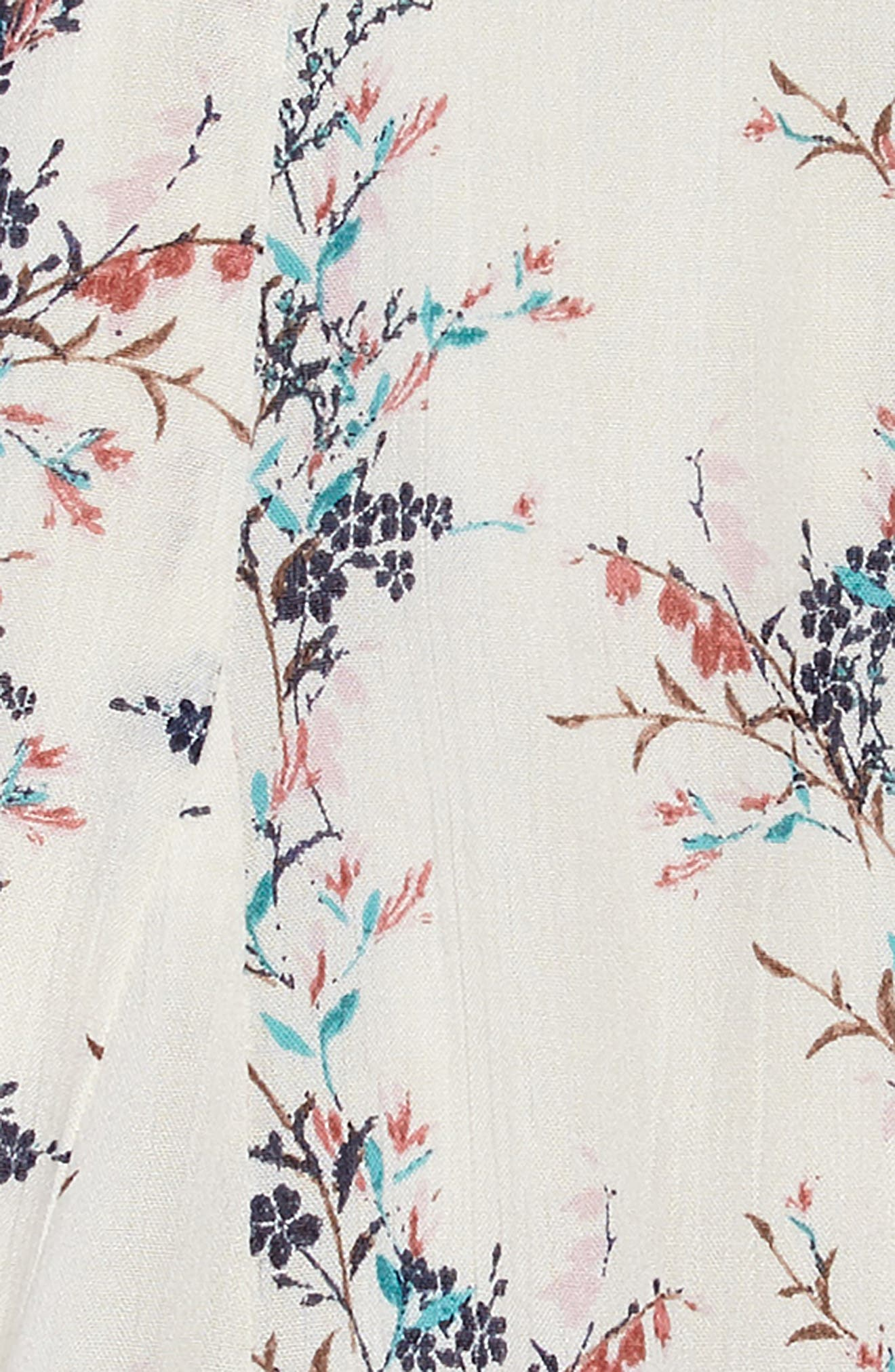 Annalyn Floral Dress,                             Alternate thumbnail 3, color,                             NAKED
