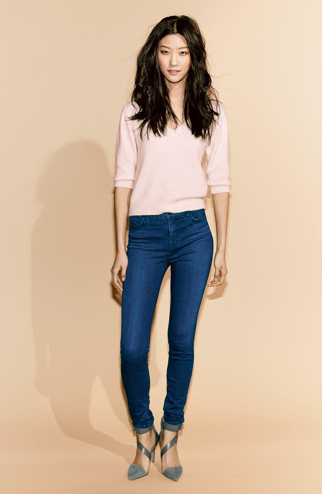 J BRAND,                             'Maria' High Rise Skinny Jeans,                             Alternate thumbnail 7, color,                             400