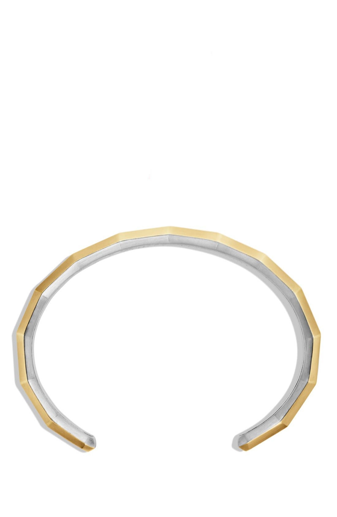 'Faceted Metal' Cuff Bracelet with 18k Gold,                             Alternate thumbnail 2, color,                             041