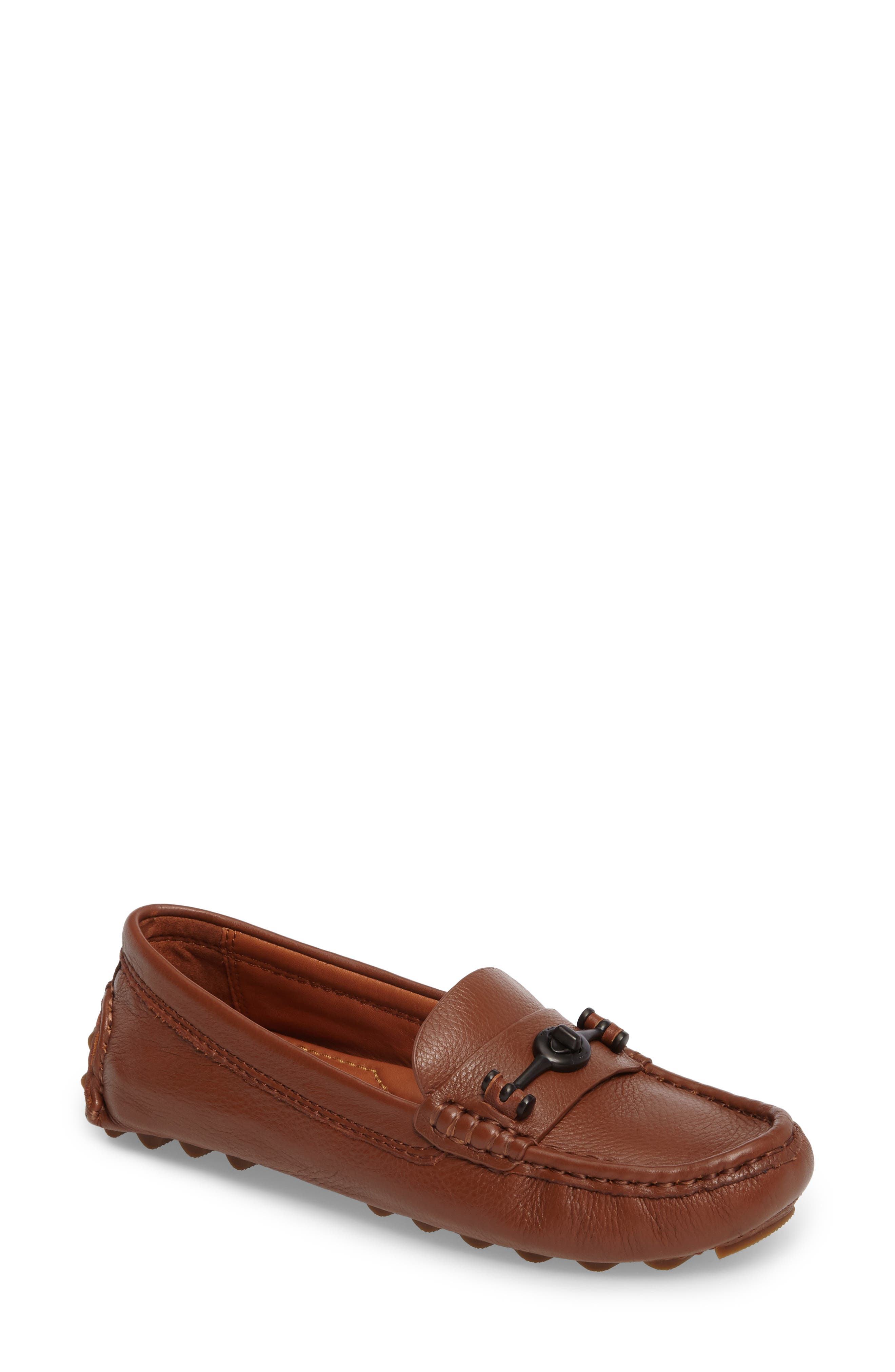 Crosby Driver Loafer,                         Main,                         color, SADDLE LEATHER