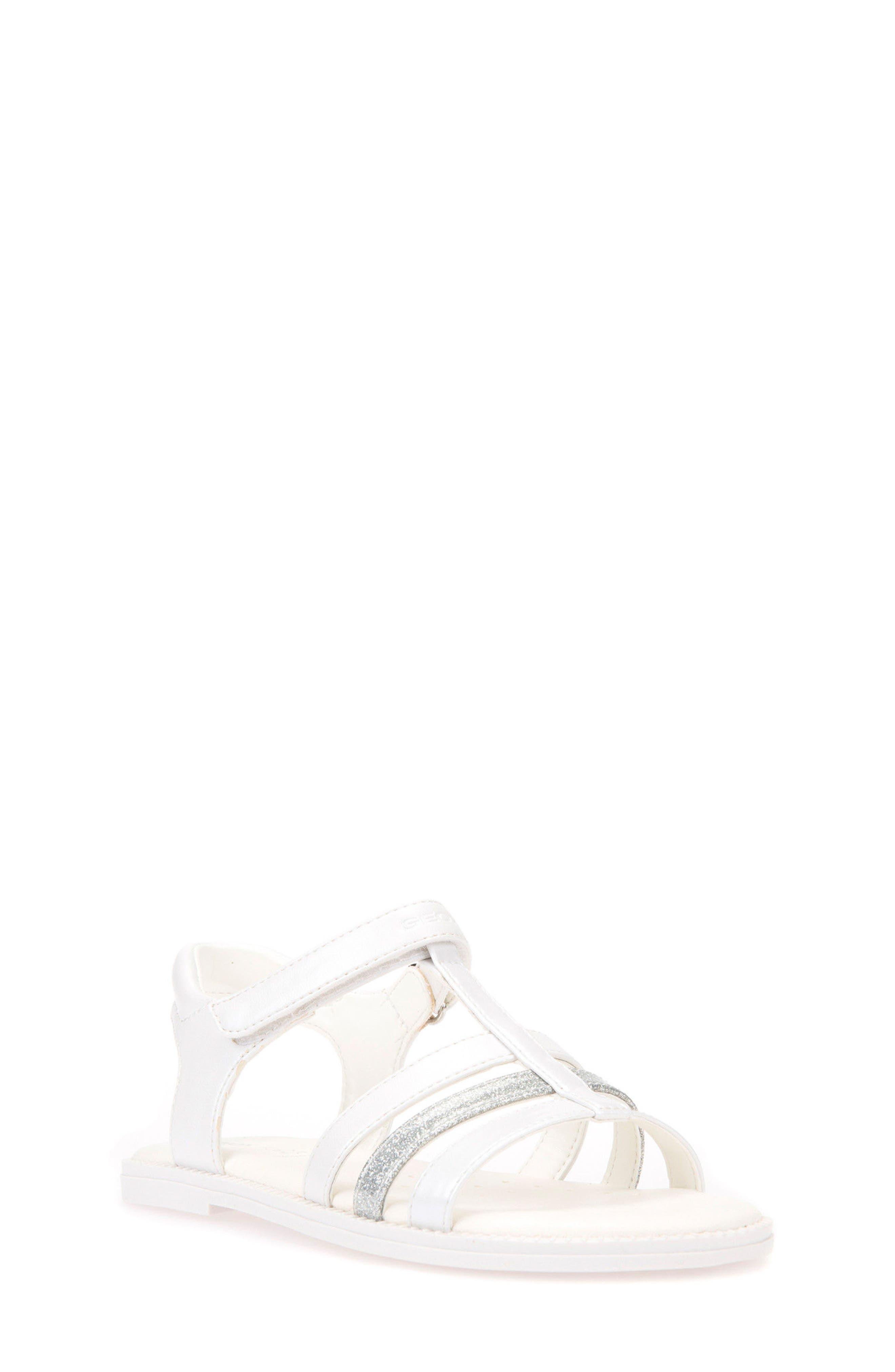 Karly Sandal,                         Main,                         color, WHITE