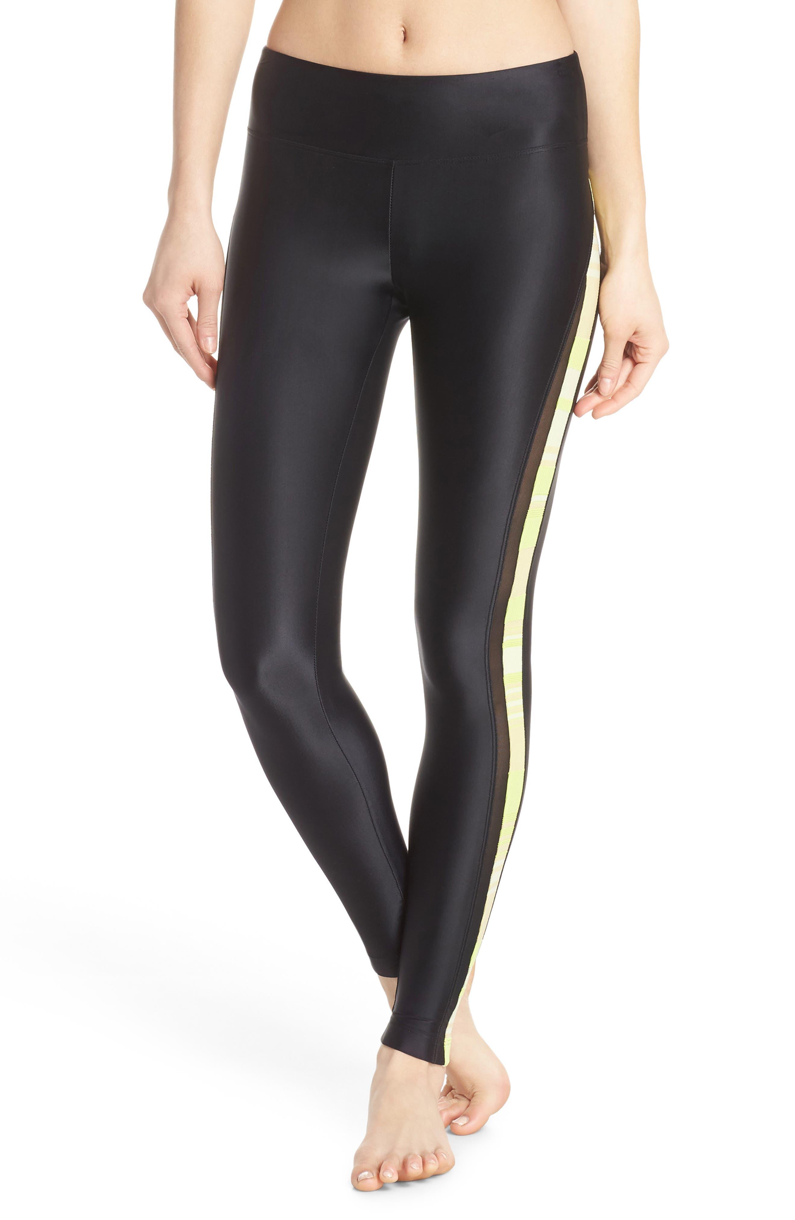 Tide Leggings,                         Main,                         color, BLACK/ LIME