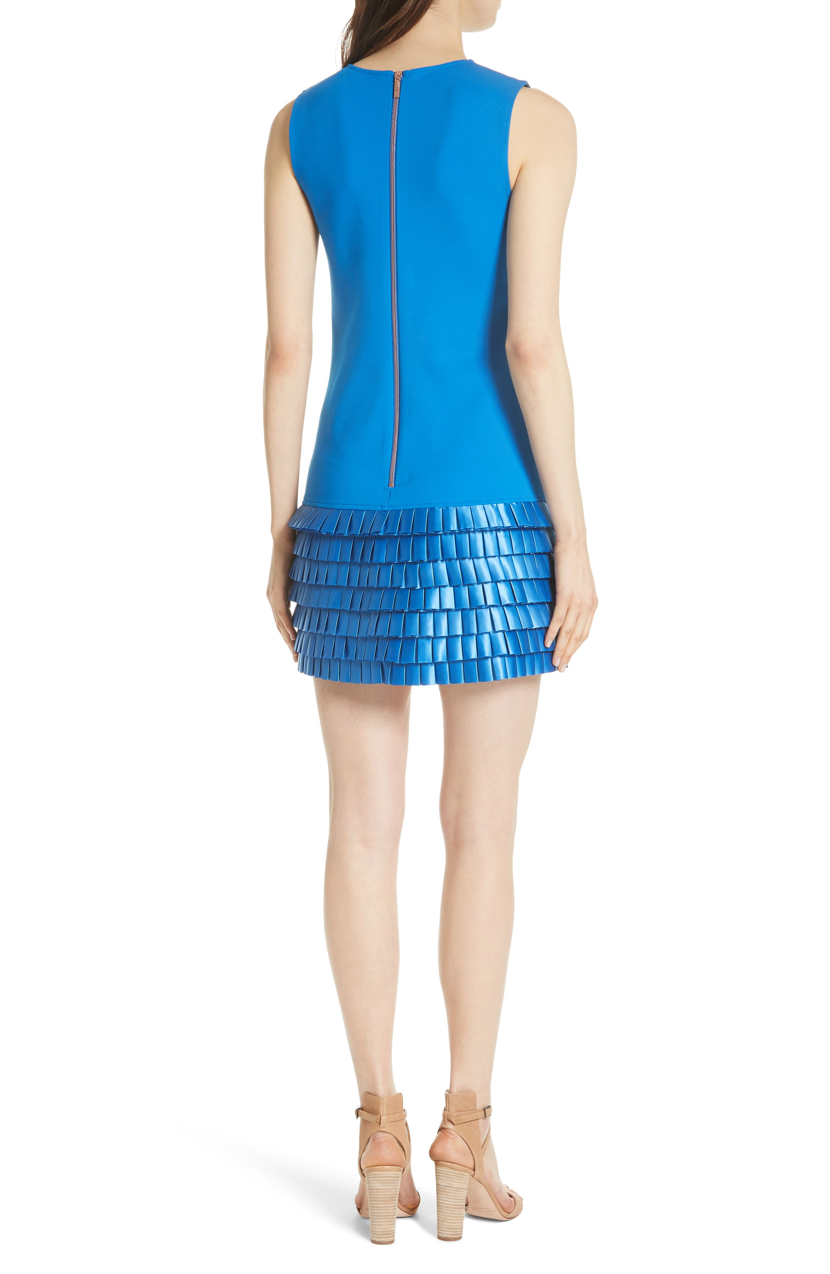Marggia Satin Loop Detail Shift Dress,                             Alternate thumbnail 2, color,                             430