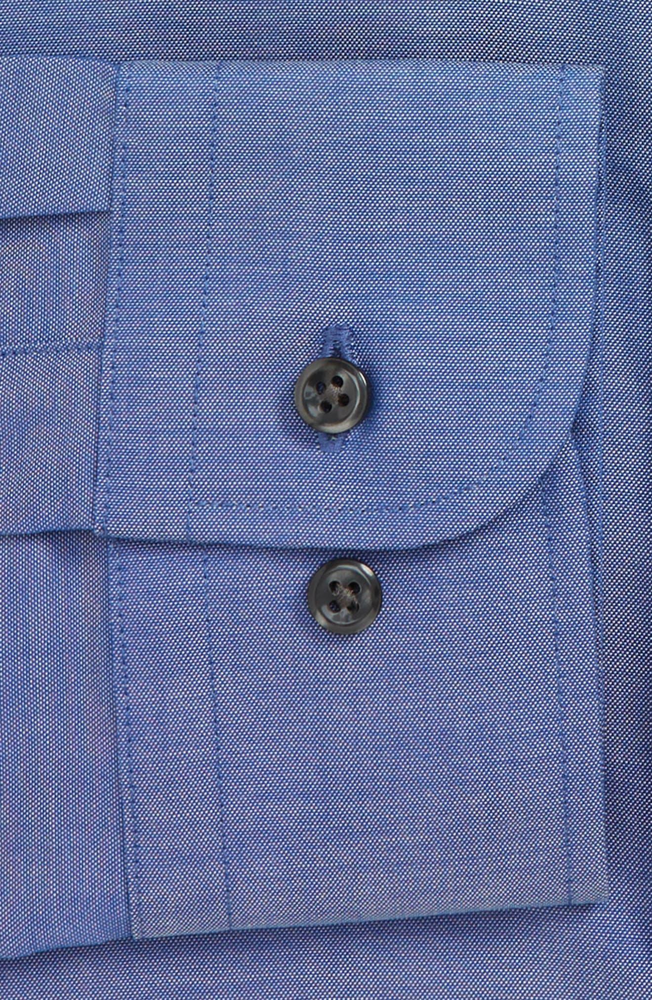 Extra Trim Fit Non-Iron Dress Shirt,                             Alternate thumbnail 6, color,                             420