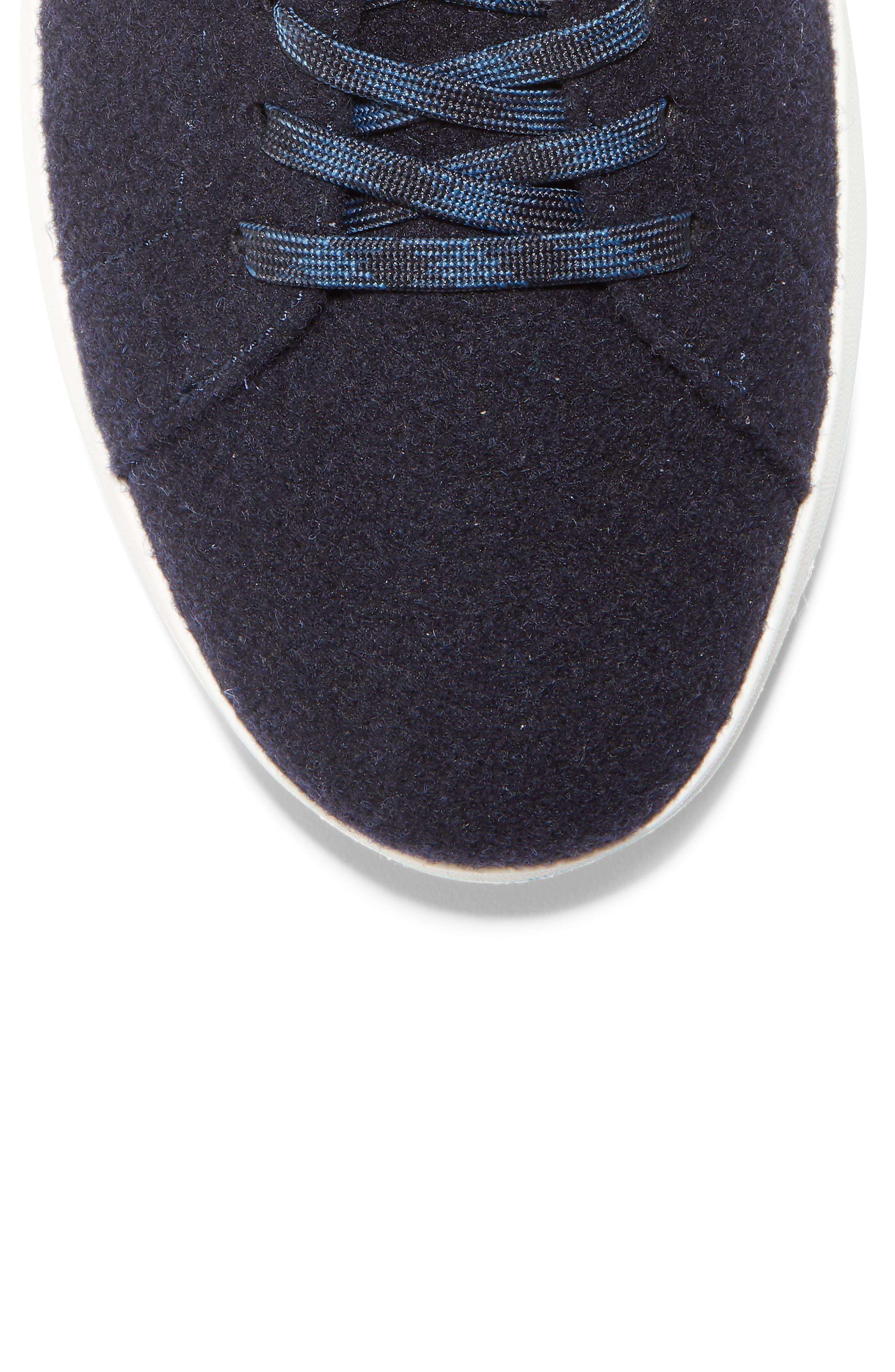 GrandPro Tennis Sneaker,                             Alternate thumbnail 7, color,                             NAVY INK WOOL/ BRITISH TAN