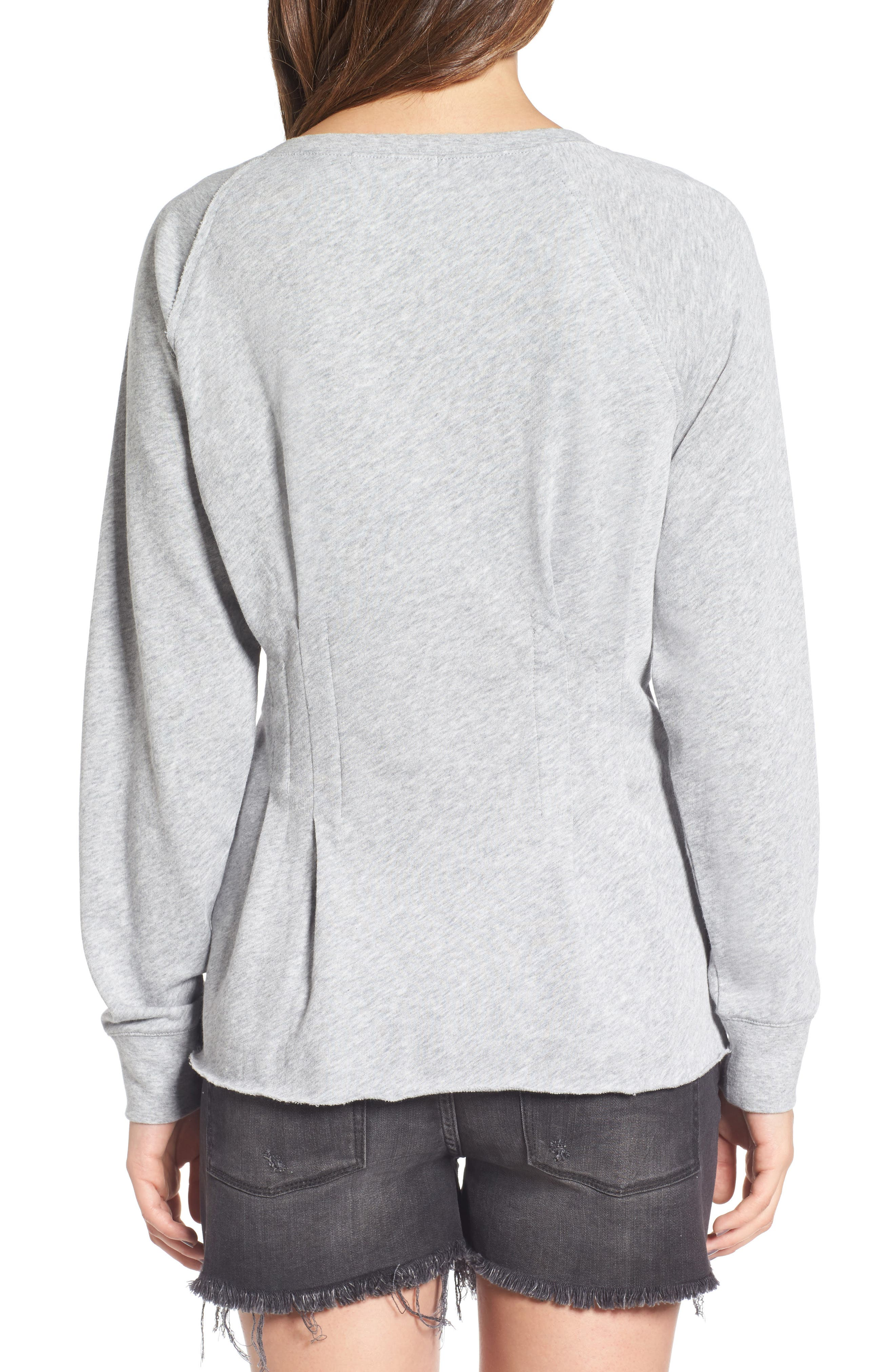 Cinch Waist Sweatshirt,                             Alternate thumbnail 2, color,                             020